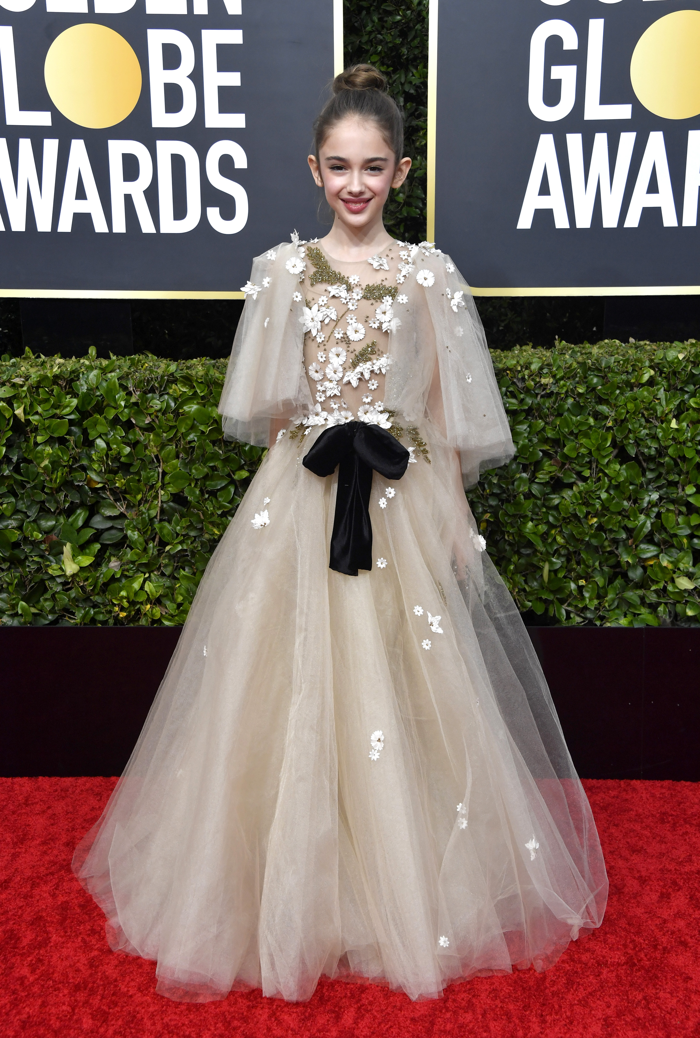 BEVERLY HILLS, CALIFORNIA - JANUARY 05: Julia Butters attends the 77th Annual Golden Globe Awards at The Beverly Hilton Hotel on January 05, 2020 in Beverly Hills, California. (Photo by Frazer Harrison/Getty Images)