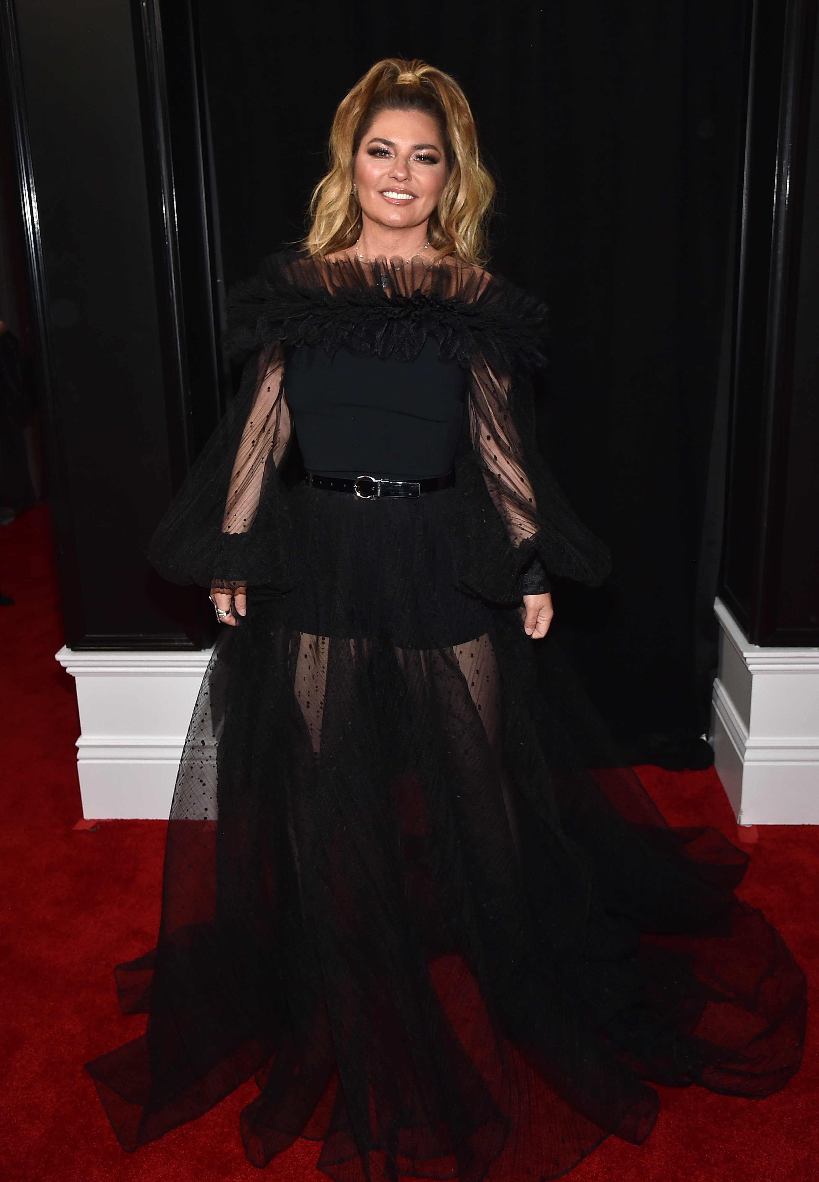 LOS ANGELES, CALIFORNIA - JANUARY 26: Shania Twain attends the 62nd Annual GRAMMY Awards at STAPLES Center on January 26, 2020 in Los Angeles, California. (Photo by John Shearer/Getty Images for The Recording Academy)