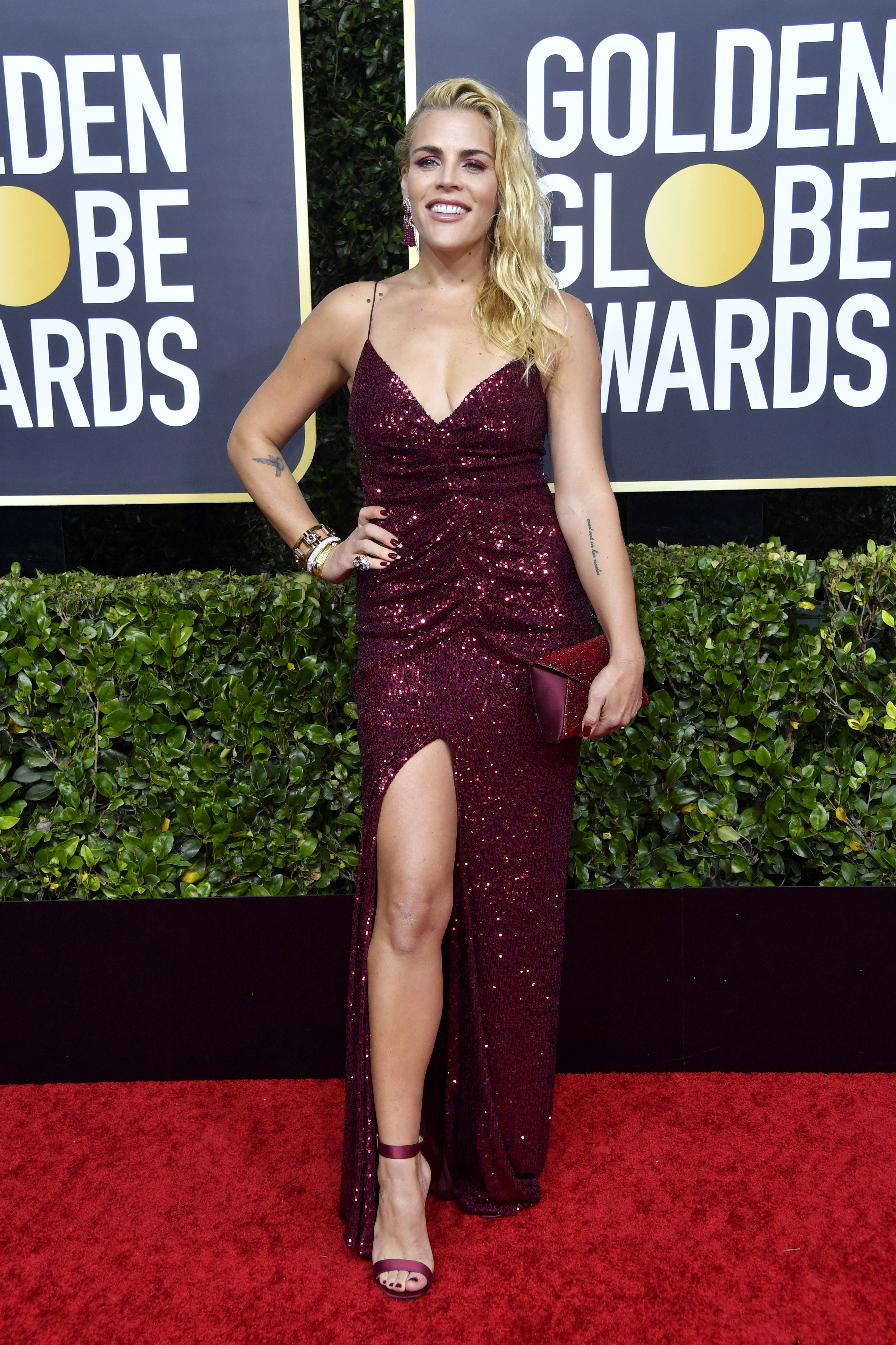 BEVERLY HILLS, CALIFORNIA - JANUARY 05: Busy Philipps attends the 77th Annual Golden Globe Awards at The Beverly Hilton Hotel on January 05, 2020 in Beverly Hills, California. (Photo by Frazer Harrison/Getty Images)