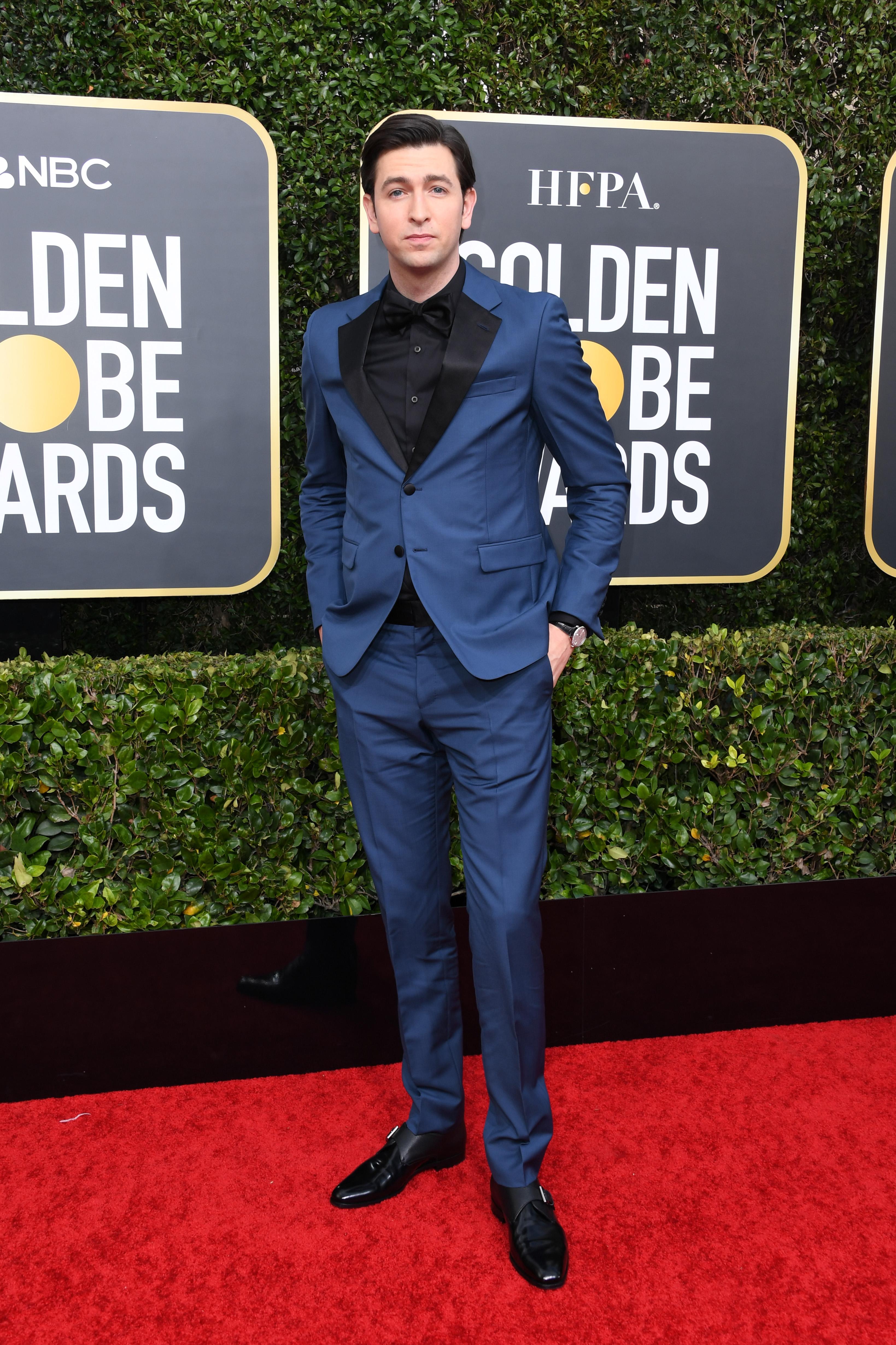 BEVERLY HILLS, CALIFORNIA - JANUARY 05: Nicholas Braun attends the 77th Annual Golden Globe Awards at The Beverly Hilton Hotel on January 05, 2020 in Beverly Hills, California. (Photo by Jon Kopaloff/Getty Images)