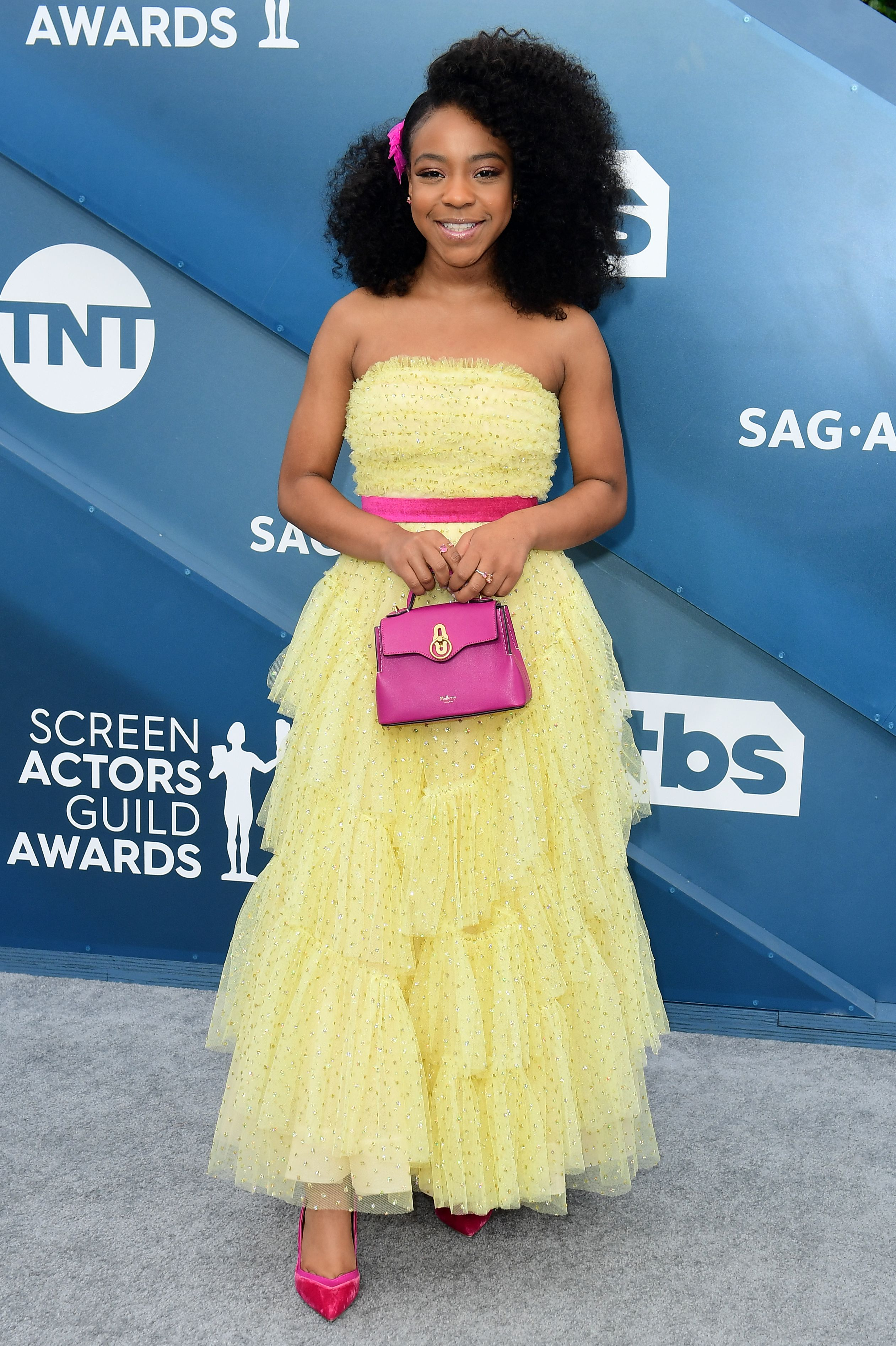 US actress Priah Ferguson arrives for the 26th Annual Screen Actors Guild Awards at the Shrine Auditorium in Los Angeles on January 19, 2020. (Photo by FREDERIC J. BROWN / AFP) (Photo by FREDERIC J. BROWN/AFP via Getty Images)