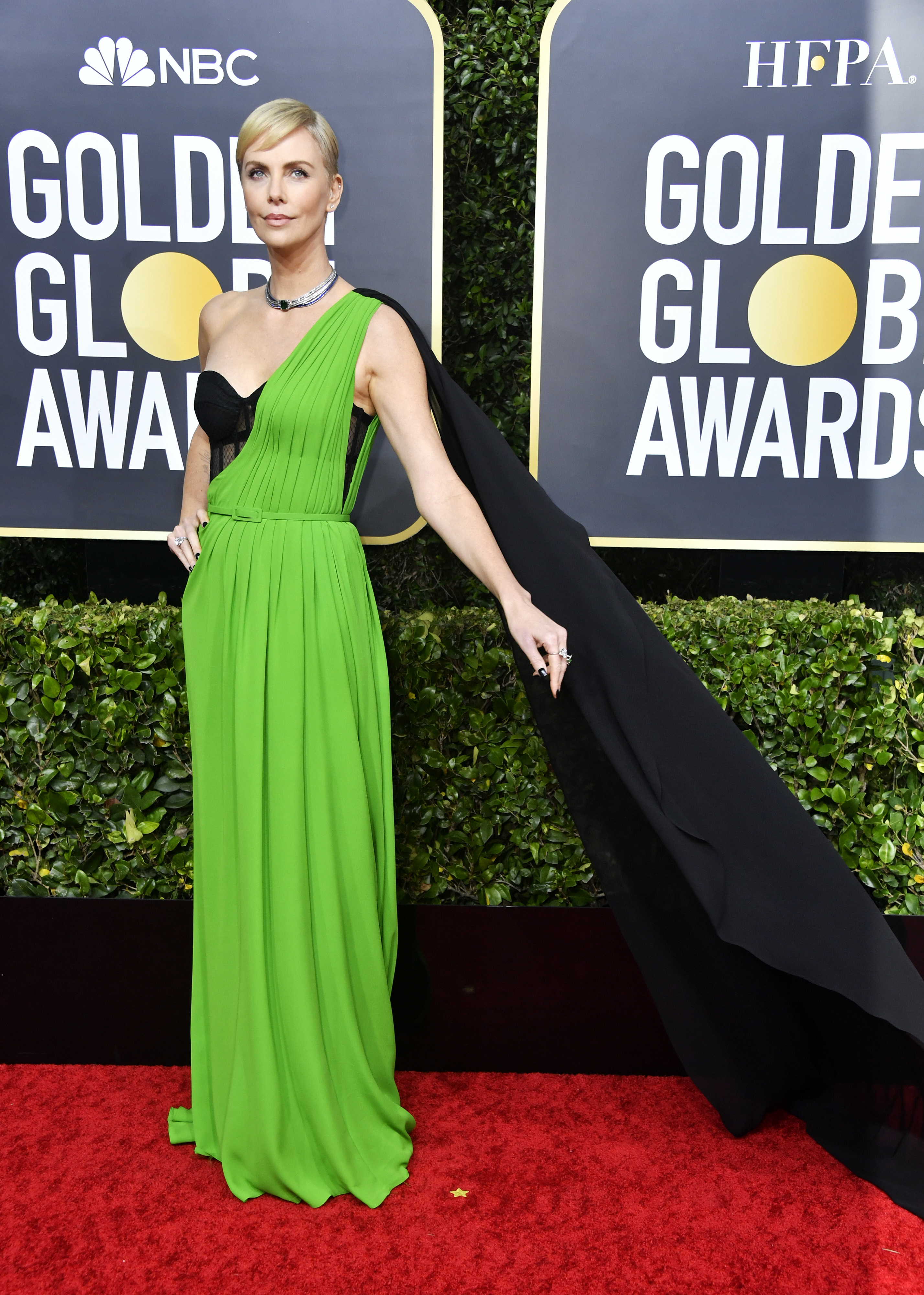 BEVERLY HILLS, CALIFORNIA - JANUARY 05: Charlize Theron attends the 77th Annual Golden Globe Awards at The Beverly Hilton Hotel on January 05, 2020 in Beverly Hills, California. (Photo by Frazer Harrison/Getty Images)