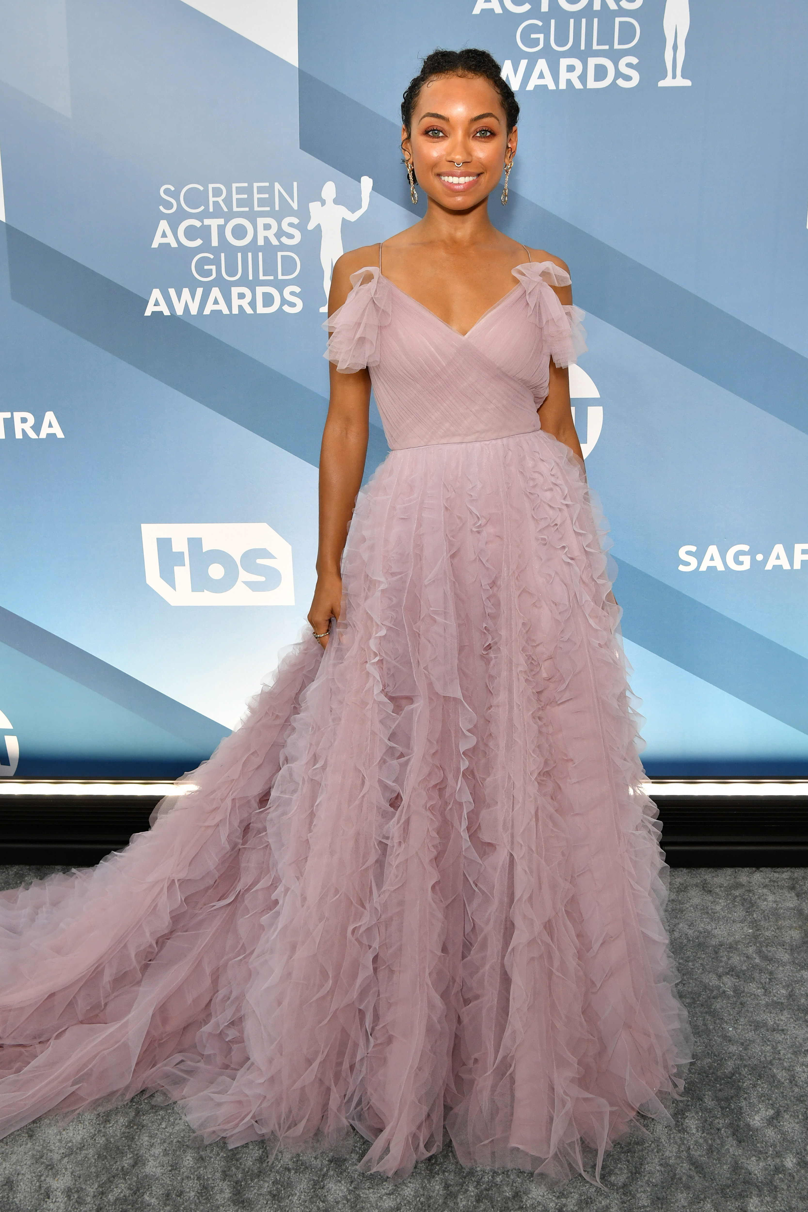 LOS ANGELES, CALIFORNIA - JANUARY 19: Logan Browning attends the 26th Annual Screen ActorsGuild Awards at The Shrine Auditorium on January 19, 2020 in Los Angeles, California. (Photo by Amy Sussman/WireImage)