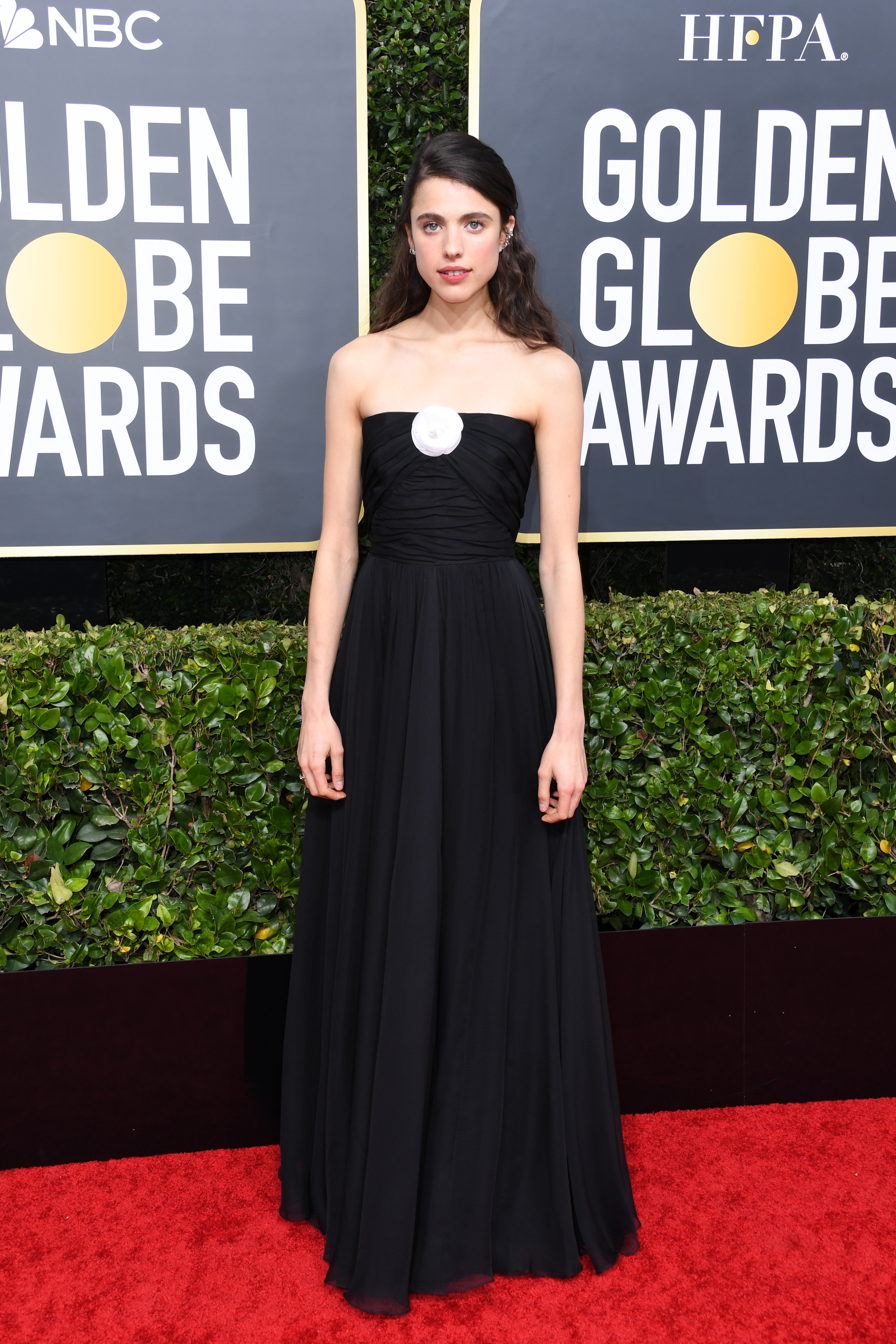 BEVERLY HILLS, CALIFORNIA - JANUARY 05: Margaret Qualley attends the 77th Annual Golden Globe Awards at The Beverly Hilton Hotel on January 05, 2020 in Beverly Hills, California. (Photo by Jon Kopaloff/Getty Images)