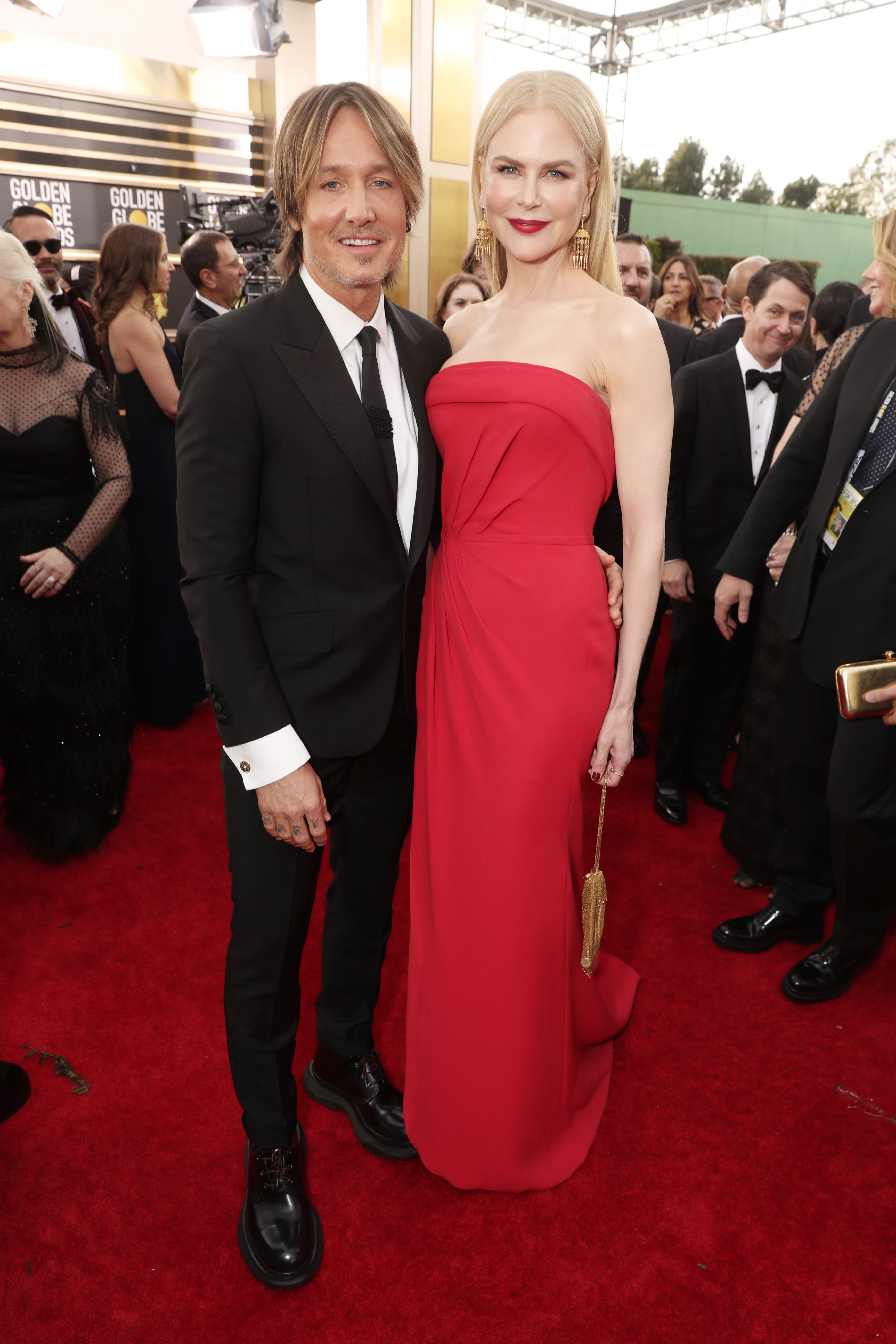 BEVERLY HILLS, CALIFORNIA - JANUARY 05: 77th ANNUAL GOLDEN GLOBE AWARDS -- Pictured: (l-r) Keith Urban and Nicole Kidman arrive to the 77th Annual Golden Globe Awards held at the Beverly Hilton Hotel on January 5, 2020. -- (Photo by: Todd Williamson/NBC/NBCU Photo Bank via Getty Images)