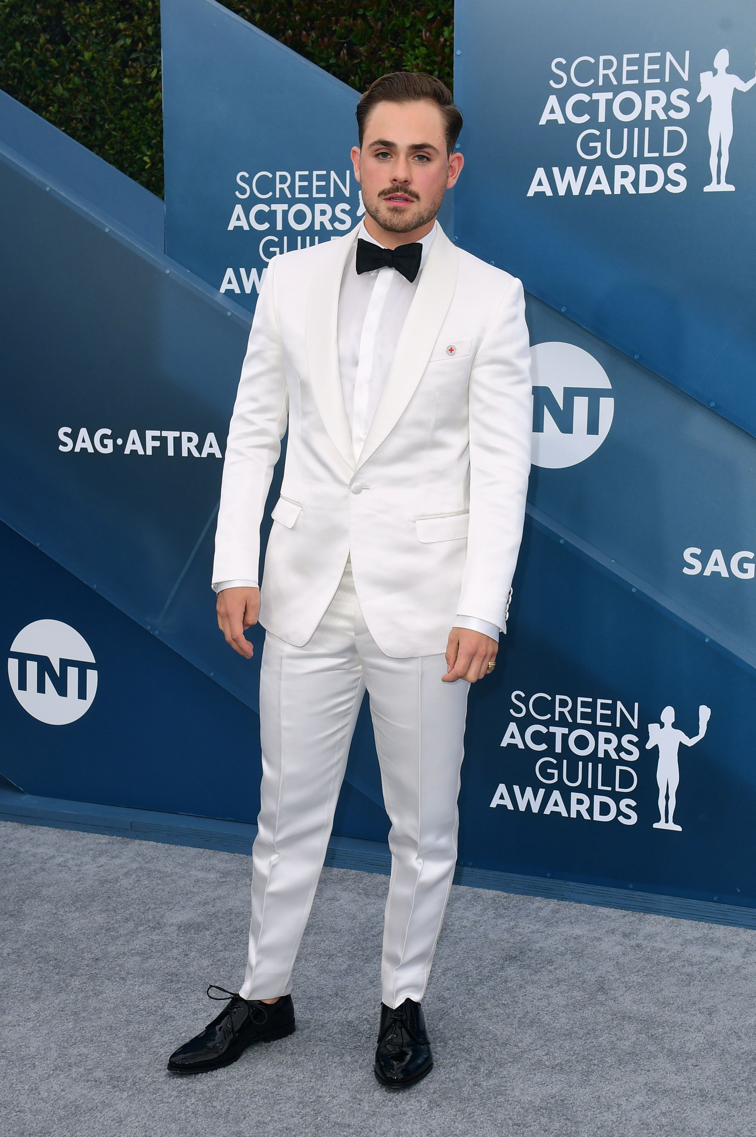Australian actor Dacre Montgomery arrives for the 26th Annual Screen Actors Guild Awards at the Shrine Auditorium in Los Angeles on January 19, 2020. (Photo by FREDERIC J. BROWN / AFP) (Photo by FREDERIC J. BROWN/AFP via Getty Images)