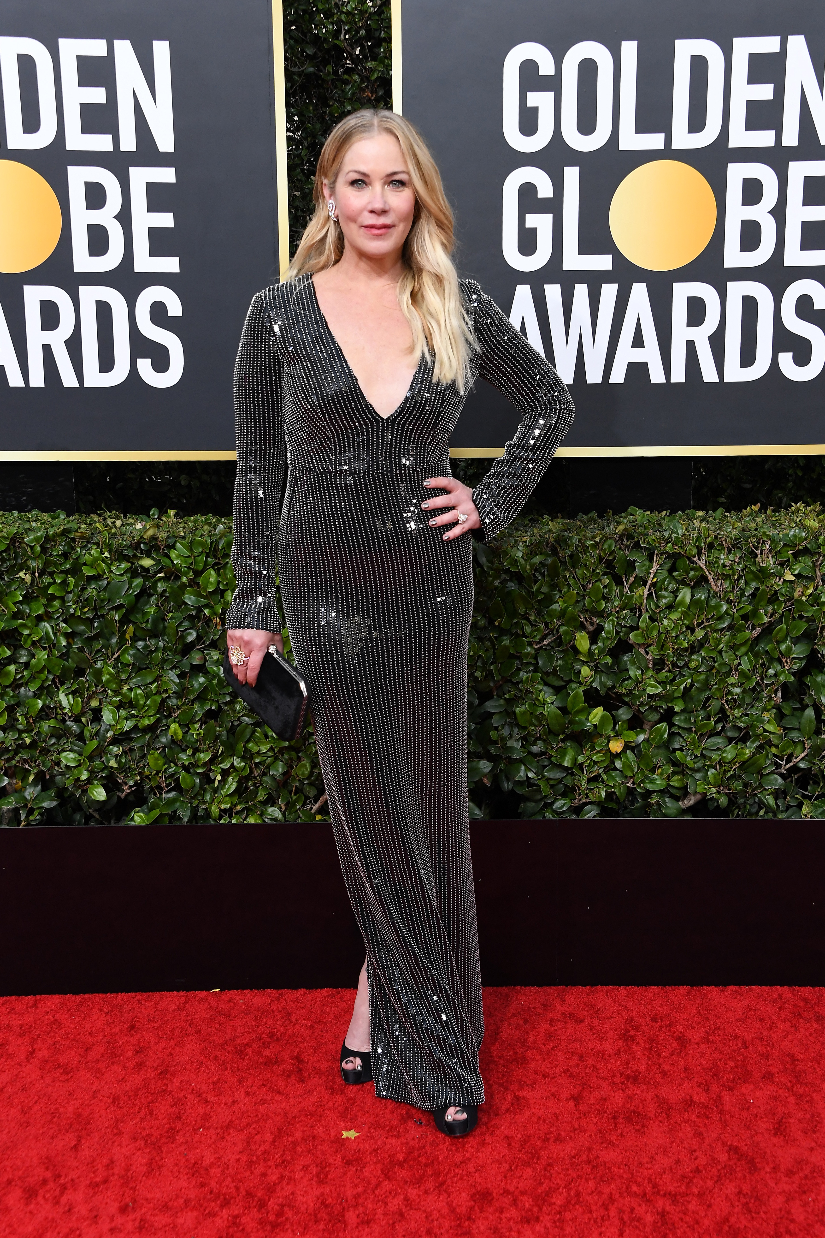BEVERLY HILLS, CALIFORNIA - JANUARY 05: Christina Applegate attends the 77th Annual Golden Globe Awards at The Beverly Hilton Hotel on January 05, 2020 in Beverly Hills, California. (Photo by Steve Granitz/WireImage)