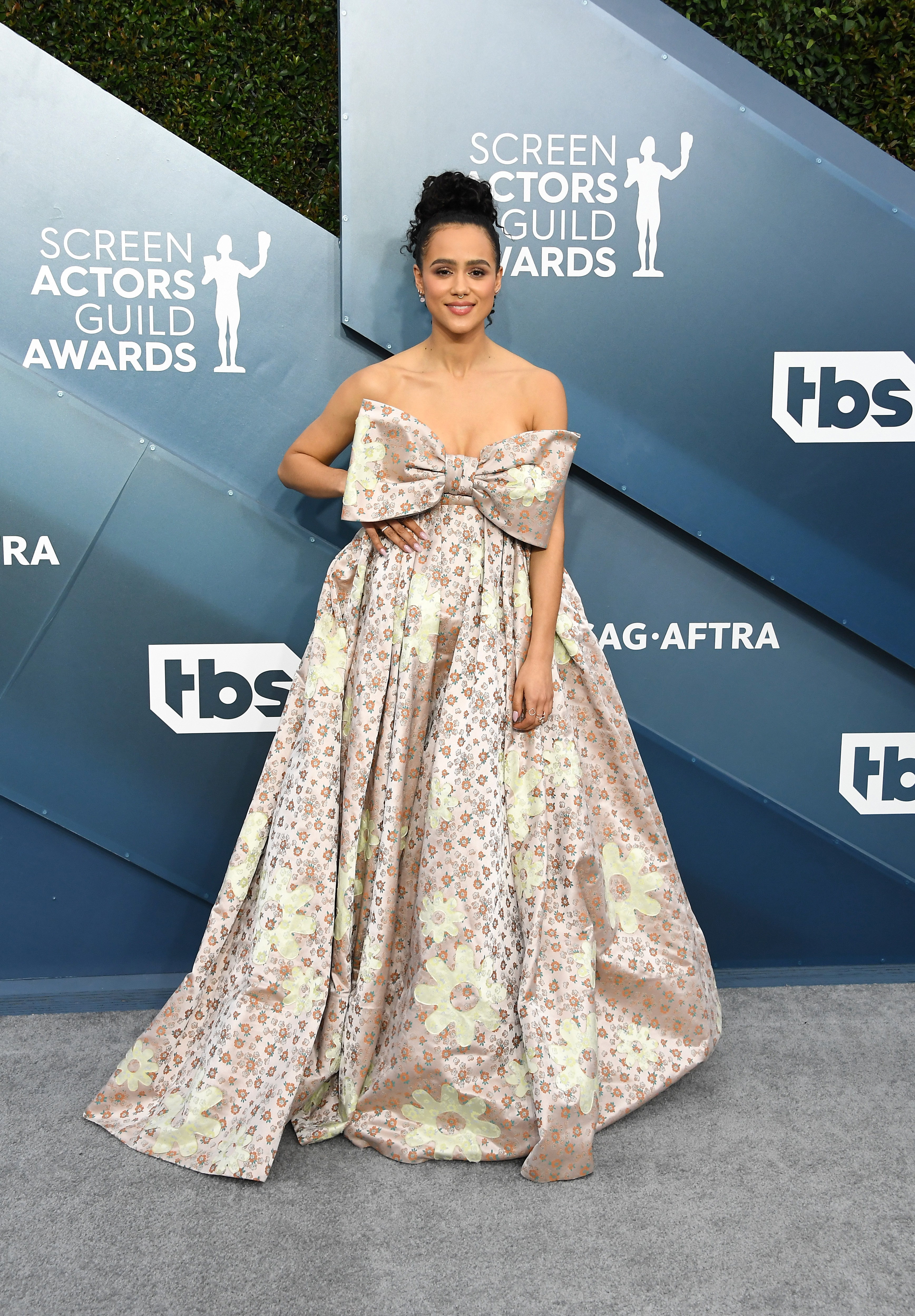 LOS ANGELES, CALIFORNIA - JANUARY 19: Nathalie Emmanuel attends the 26th Annual Screen ActorsGuild Awards at The Shrine Auditorium on January 19, 2020 in Los Angeles, California. (Photo by Steve Granitz/WireImage)