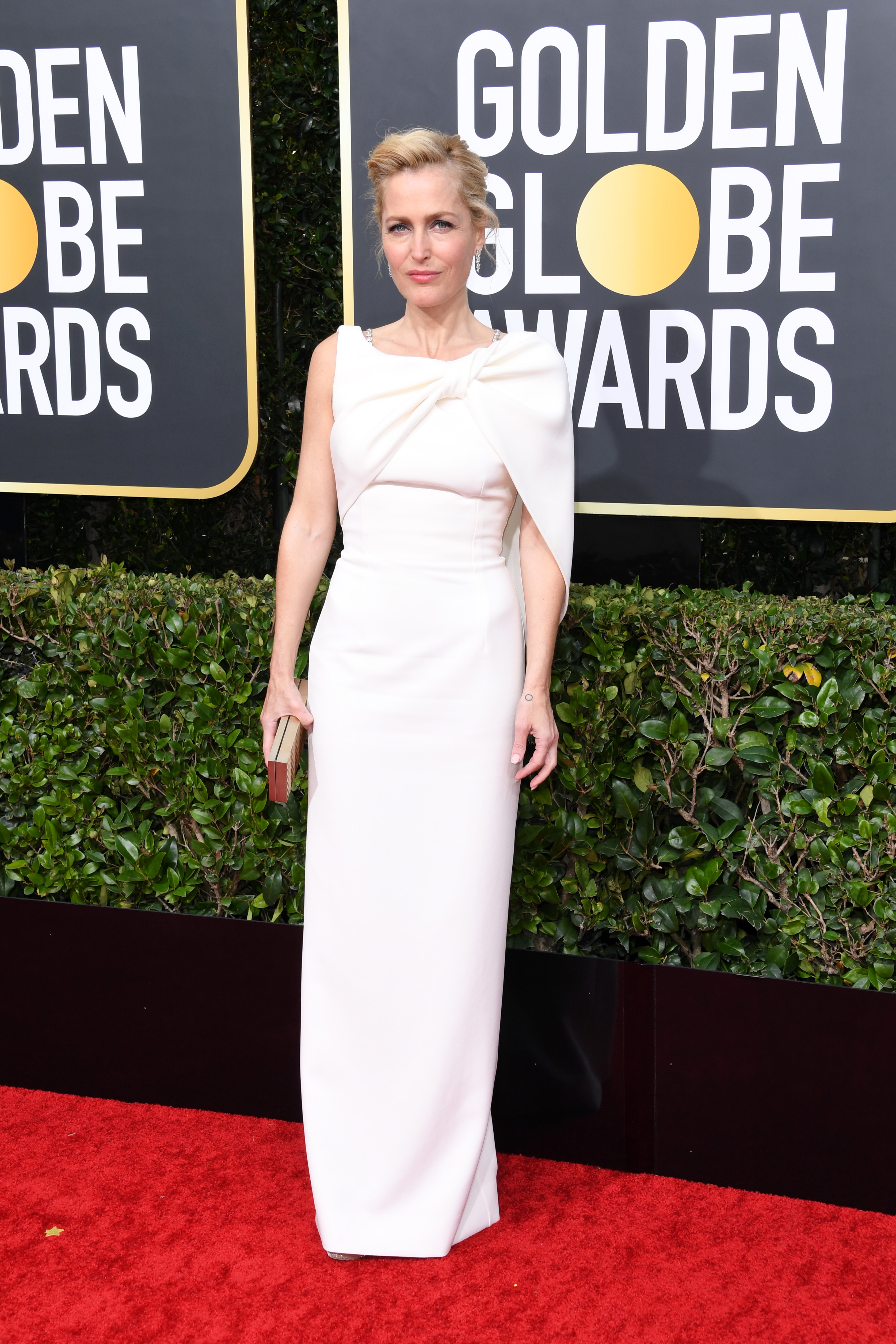 BEVERLY HILLS, CALIFORNIA - JANUARY 05: Gillian Anderson attends the 77th Annual Golden Globe Awards at The Beverly Hilton Hotel on January 05, 2020 in Beverly Hills, California. (Photo by Jon Kopaloff/Getty Images)