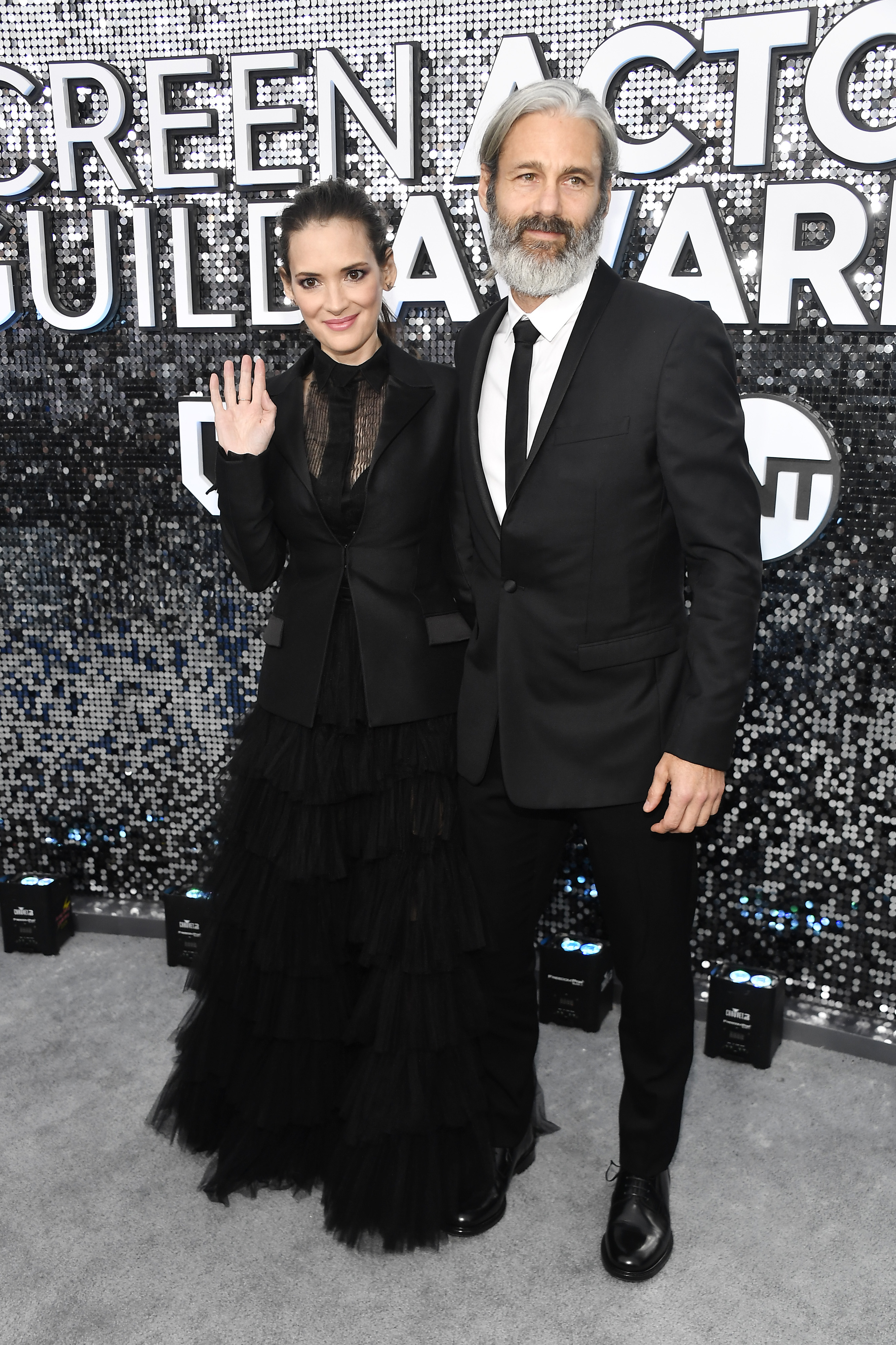 LOS ANGELES, CALIFORNIA - JANUARY 19: (L-R) Winona Ryder and Scott Mackinlay Hahn attend the 26th Annual Screen ActorsGuild Awards at The Shrine Auditorium on January 19, 2020 in Los Angeles, California. (Photo by Frazer Harrison/Getty Images)