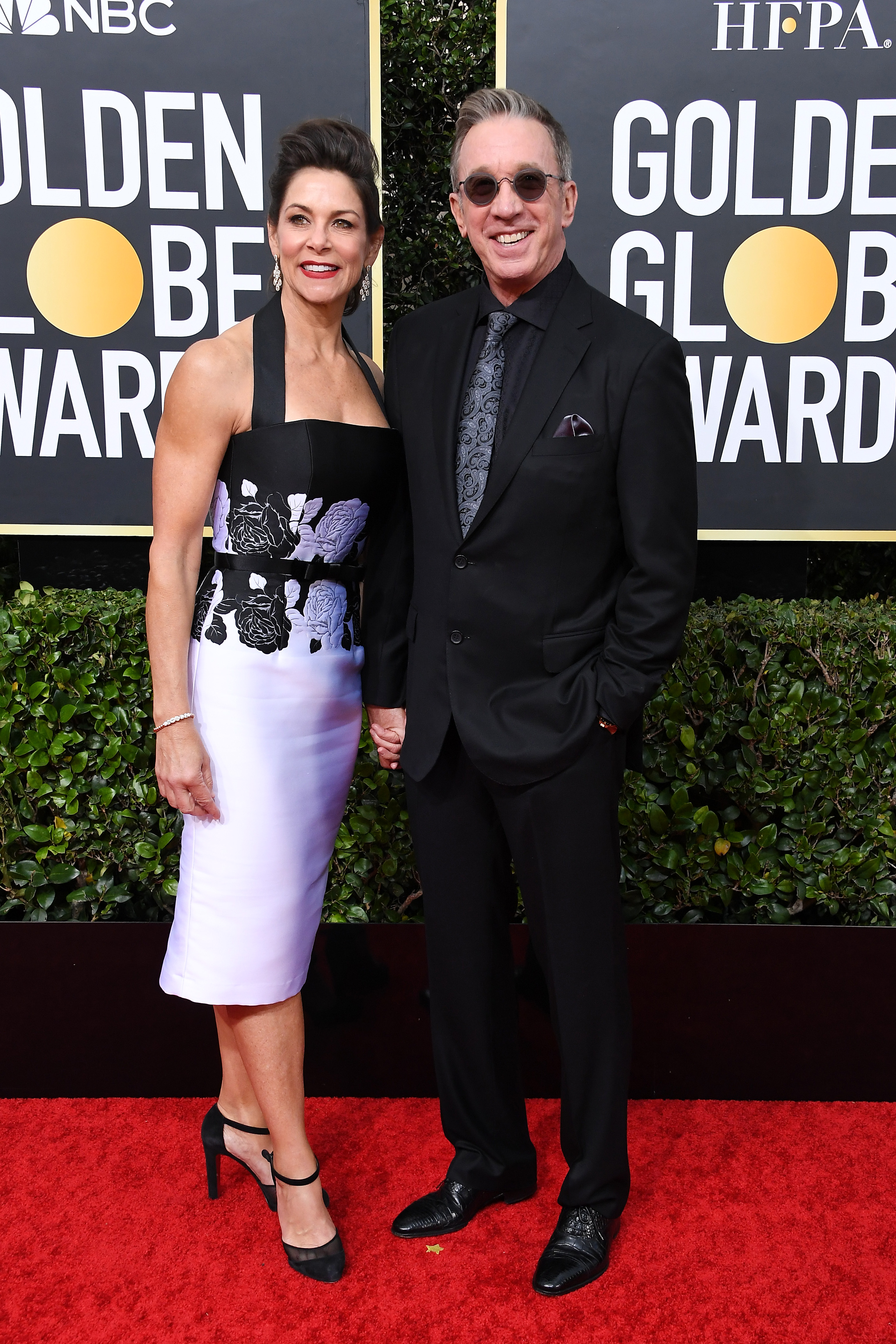 BEVERLY HILLS, CALIFORNIA - JANUARY 05: Jane Hajduk and Tim Allen attend the 77th Annual Golden Globe Awards at The Beverly Hilton Hotel on January 05, 2020 in Beverly Hills, California. (Photo by Steve Granitz/WireImage)