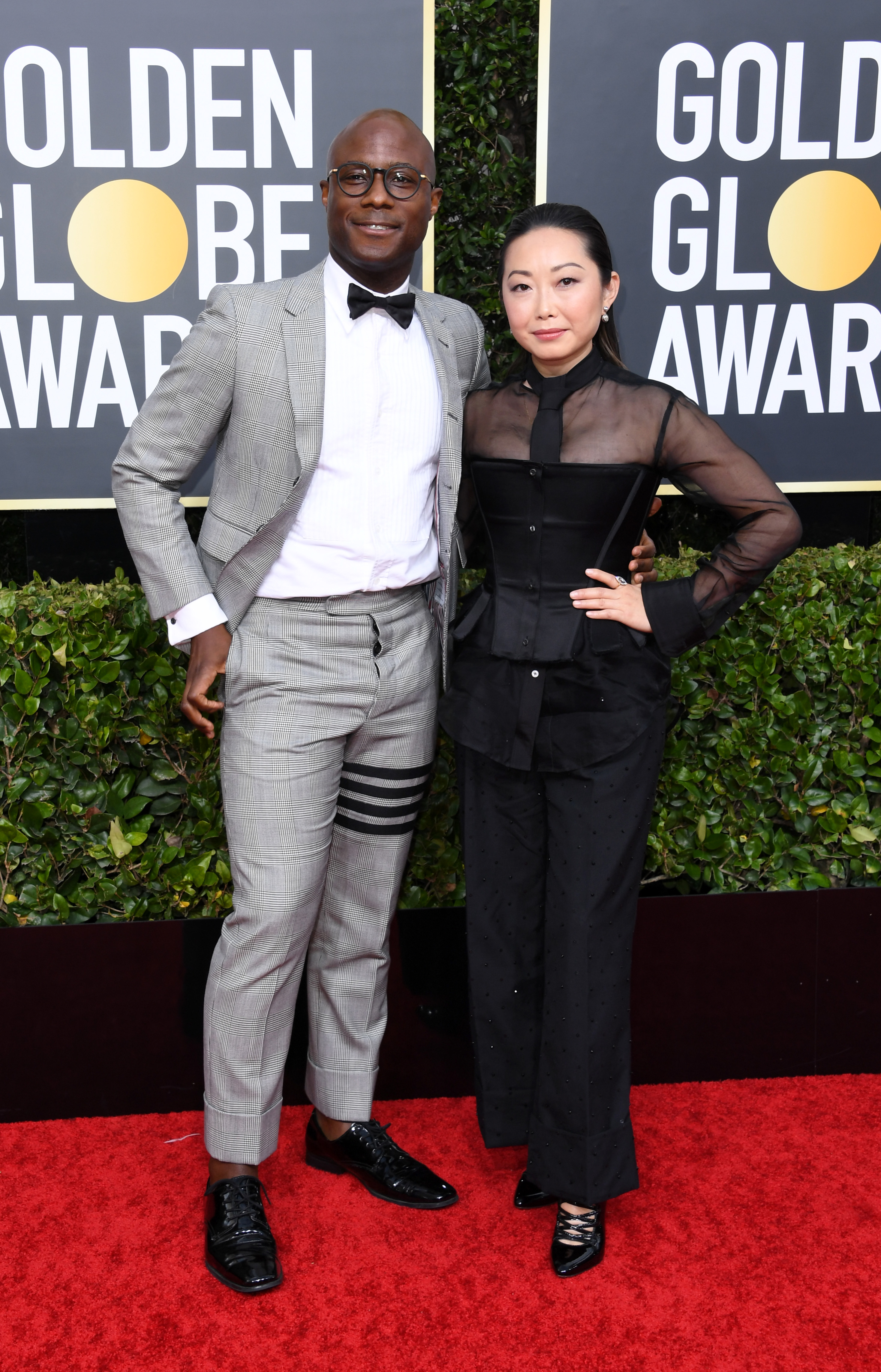 BEVERLY HILLS, CALIFORNIA - JANUARY 05: Barry Jenkins (L) and  Lulu Wang attend the 77th Annual Golden Globe Awards at The Beverly Hilton Hotel on January 05, 2020 in Beverly Hills, California. (Photo by Jon Kopaloff/Getty Images)