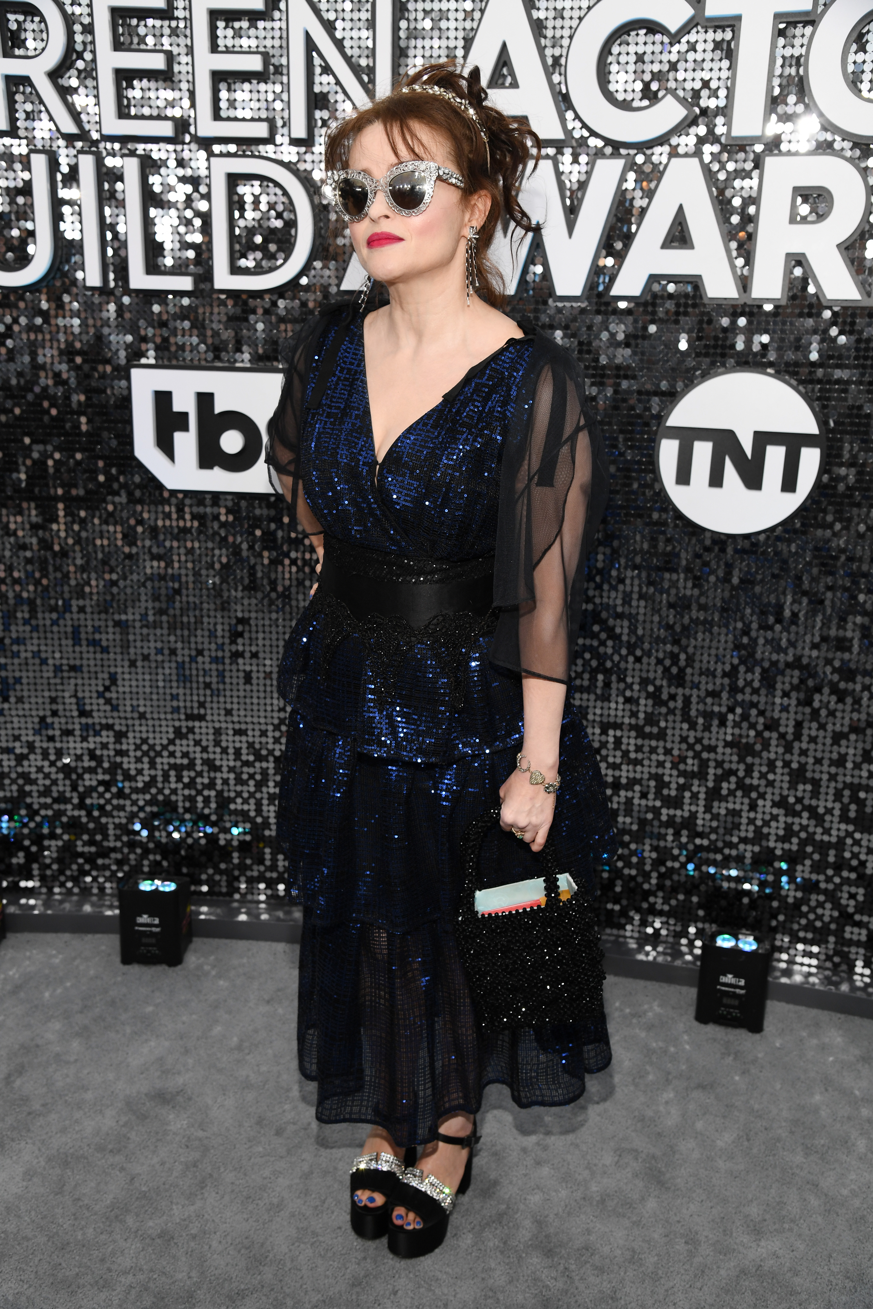 LOS ANGELES, CALIFORNIA - JANUARY 19: Helena Bonham Carter attends the 26th Annual Screen ActorsGuild Awards at The Shrine Auditorium on January 19, 2020 in Los Angeles, California. 721336 (Photo by Kevin Mazur/Getty Images for Turner)