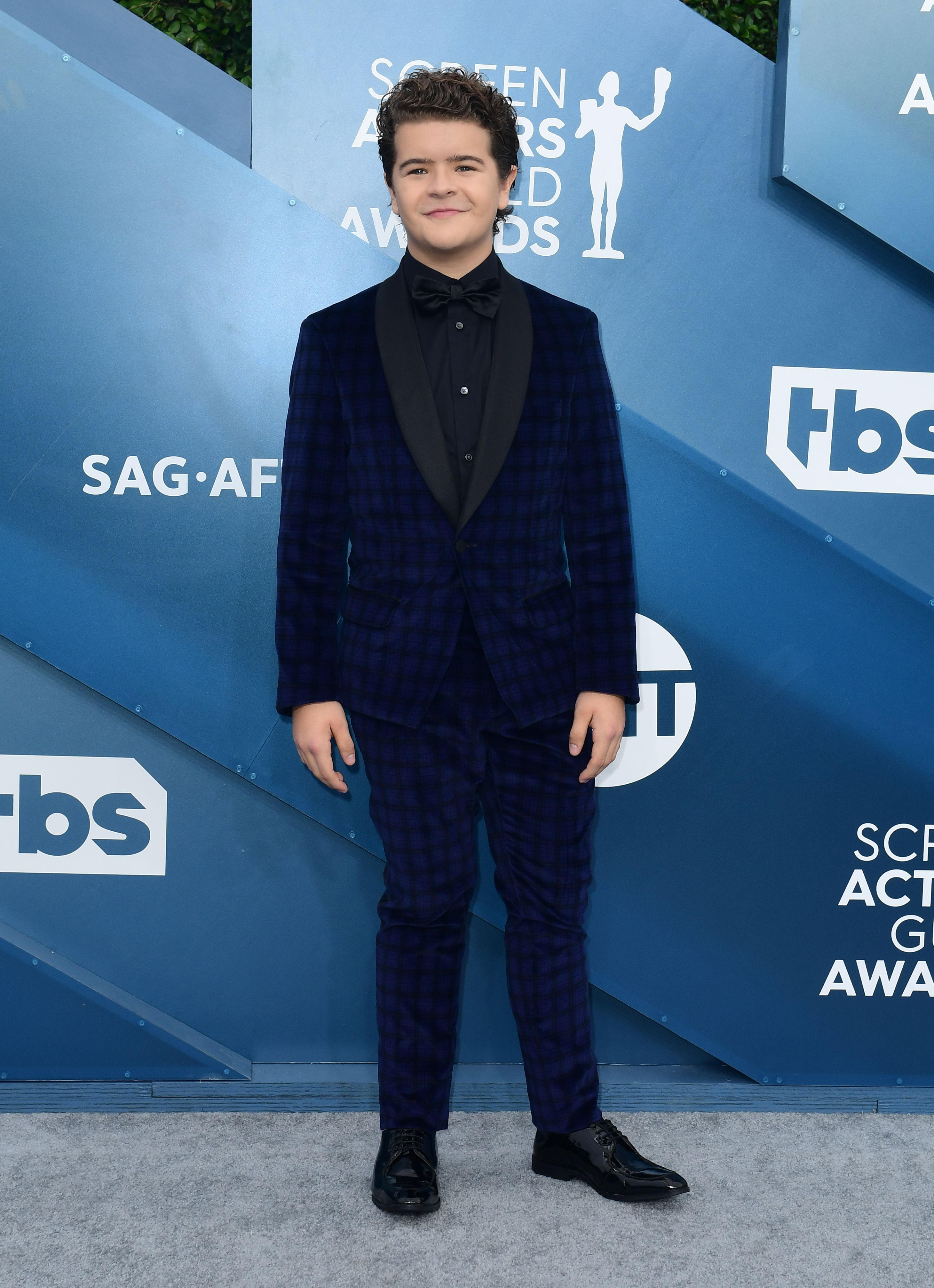 Actor Gaten Matarazzo arrives for the 26th Annual Screen Actors Guild Awards at the Shrine Auditorium in Los Angeles on January 19, 2020. (Photo by FREDERIC J. BROWN / AFP) (Photo by FREDERIC J. BROWN/AFP via Getty Images)