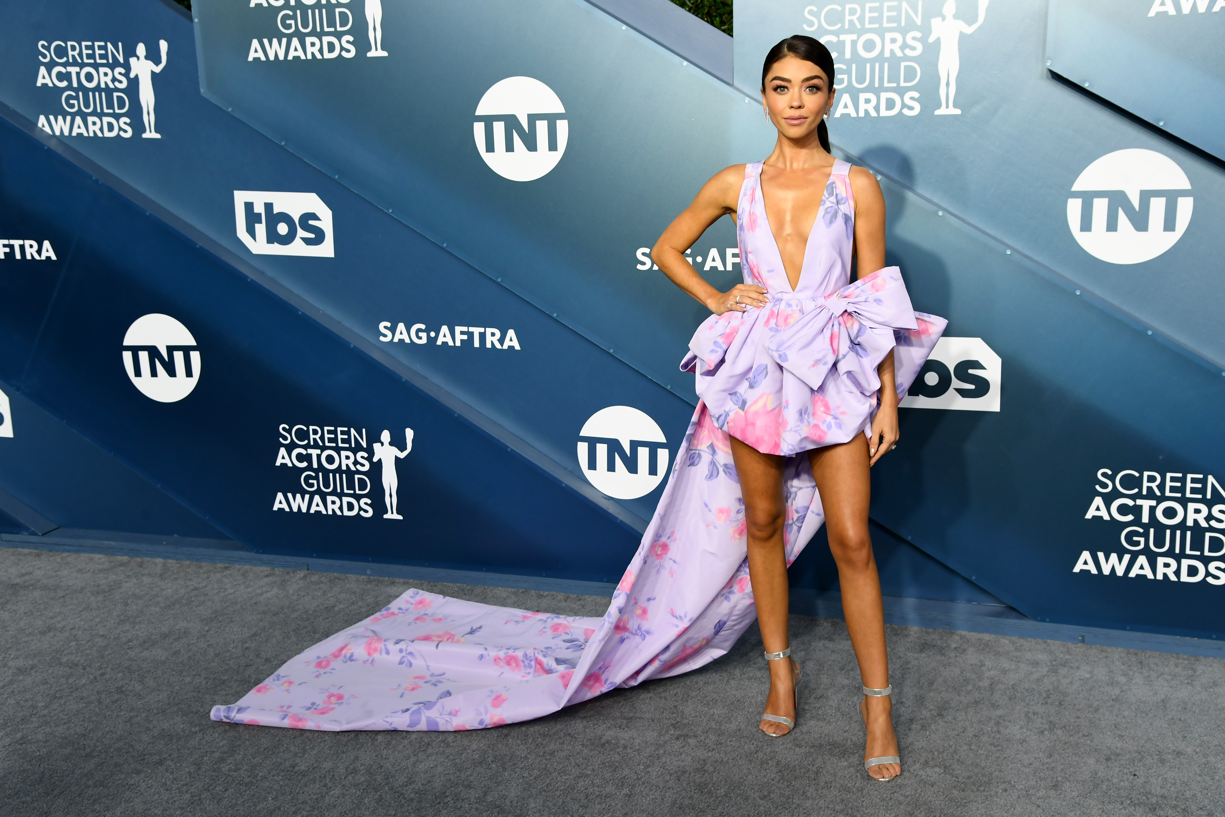 LOS ANGELES, CALIFORNIA - JANUARY 19: Sarah Hyland attends the 26th Annual Screen ActorsGuild Awards at The Shrine Auditorium on January 19, 2020 in Los Angeles, California. (Photo by Jeff Kravitz/FilmMagic)