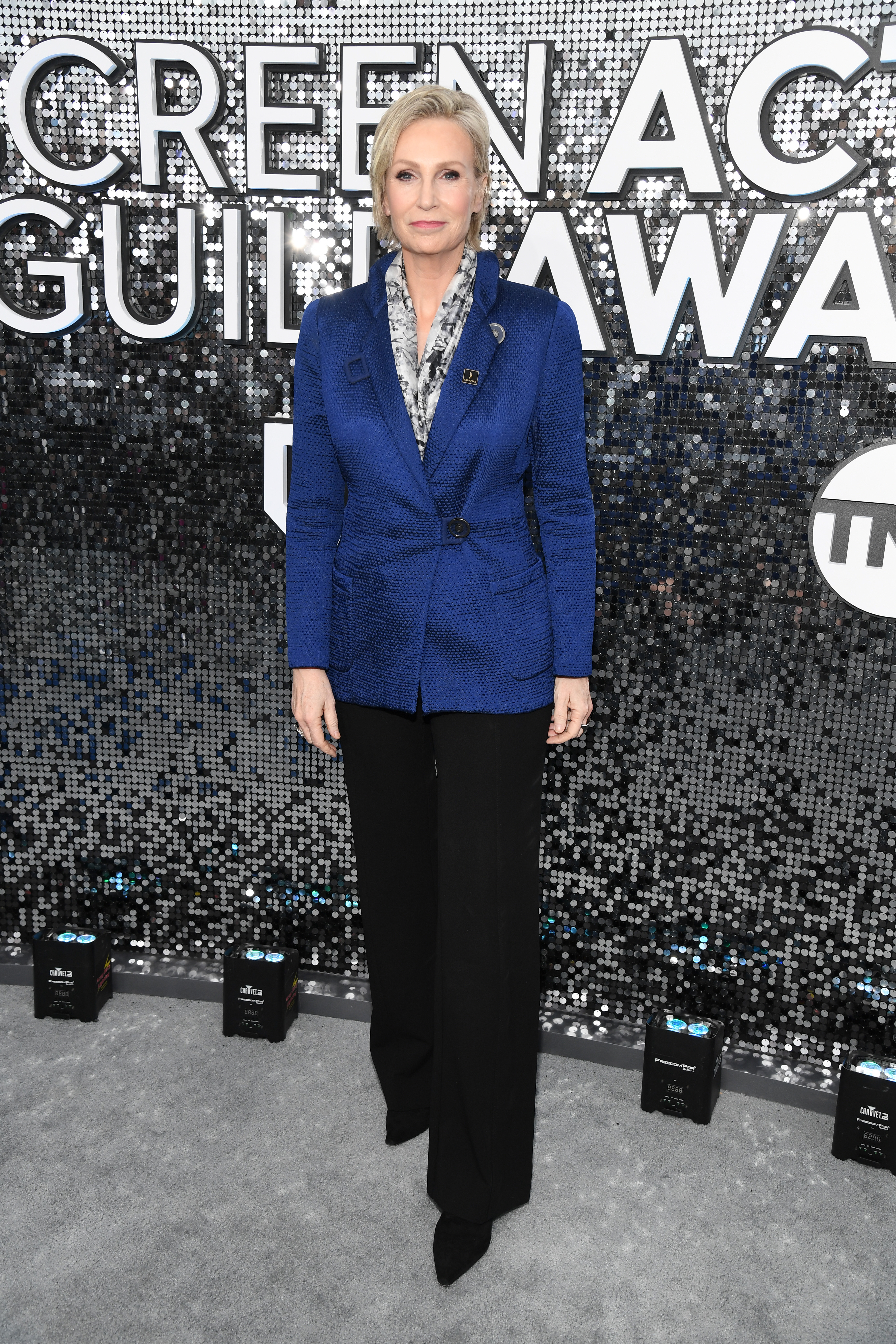 LOS ANGELES, CALIFORNIA - JANUARY 19: Jane Lynch attends the 26th Annual Screen ActorsGuild Awards at The Shrine Auditorium on January 19, 2020 in Los Angeles, California. 721336 (Photo by Kevin Mazur/Getty Images for Turner)