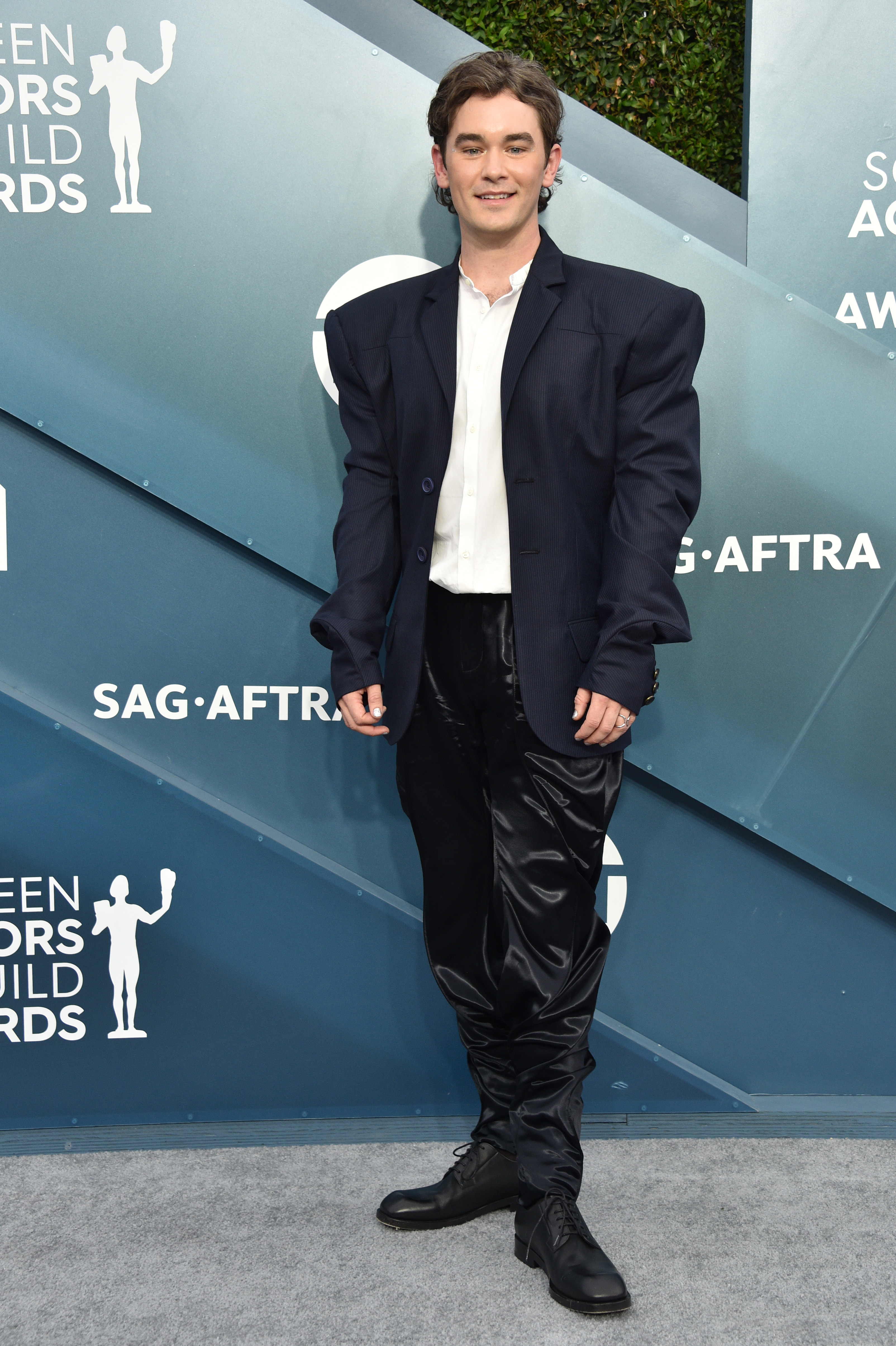 LOS ANGELES, CALIFORNIA - JANUARY 19:  Casey Thomas Brown attends the 26th Annual Screen ActorsGuild Awards at The Shrine Auditorium on January 19, 2020 in Los Angeles, California. 721430 (Photo by Gregg DeGuire/Getty Images for Turner)