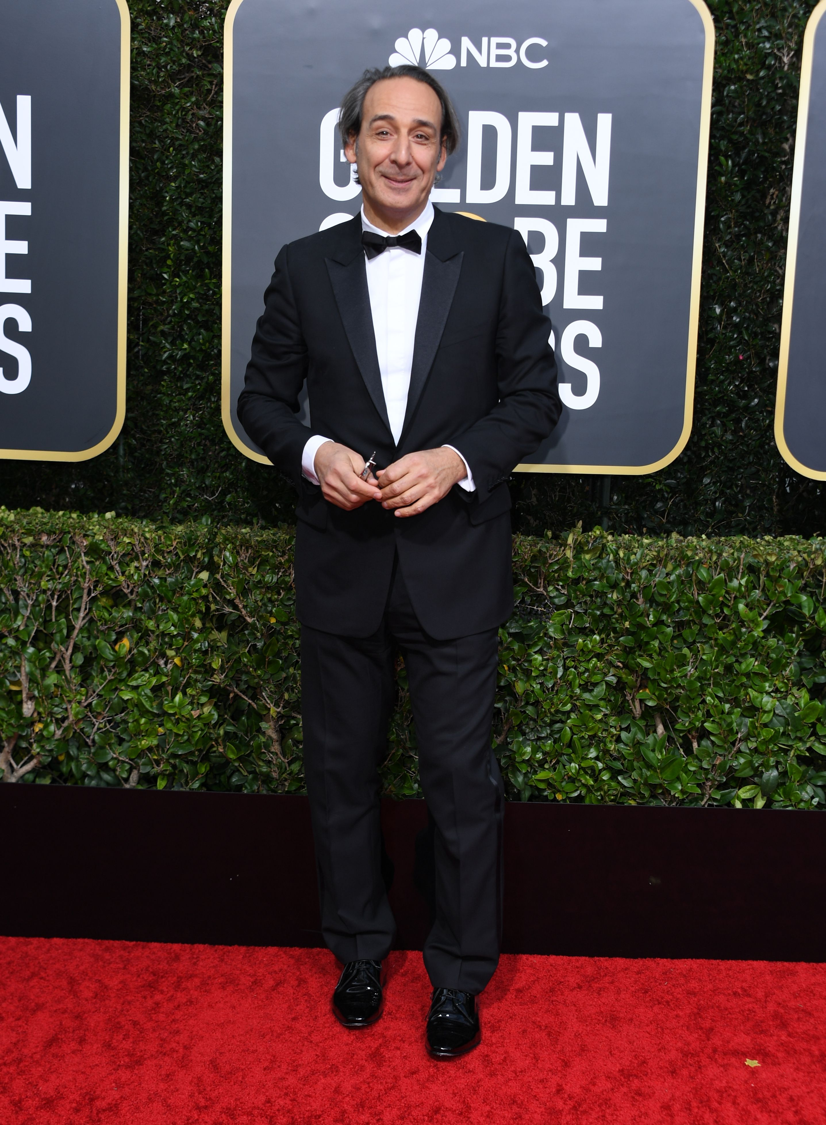 French composer Alexandre Desplat arrives for the 77th annual Golden Globe Awards on January 5, 2020, at The Beverly Hilton hotel in Beverly Hills, California. (Photo by VALERIE MACON / AFP) (Photo by VALERIE MACON/AFP via Getty Images)