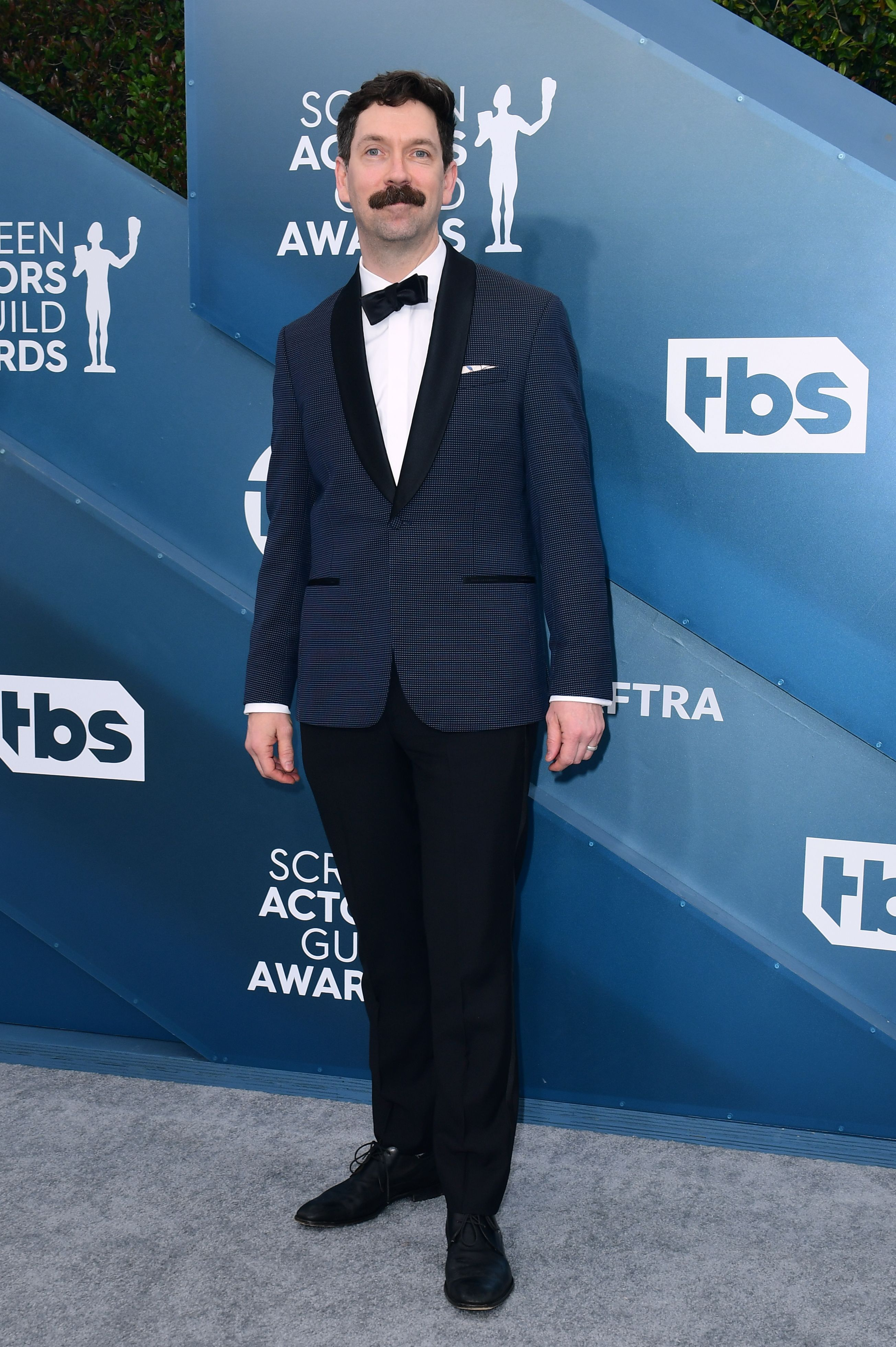 Andy Carey arrives for the 26th Annual Screen Actors Guild Awards at the Shrine Auditorium in Los Angeles on January 19, 2020. (Photo by FREDERIC J. BROWN / AFP) (Photo by FREDERIC J. BROWN/AFP via Getty Images)