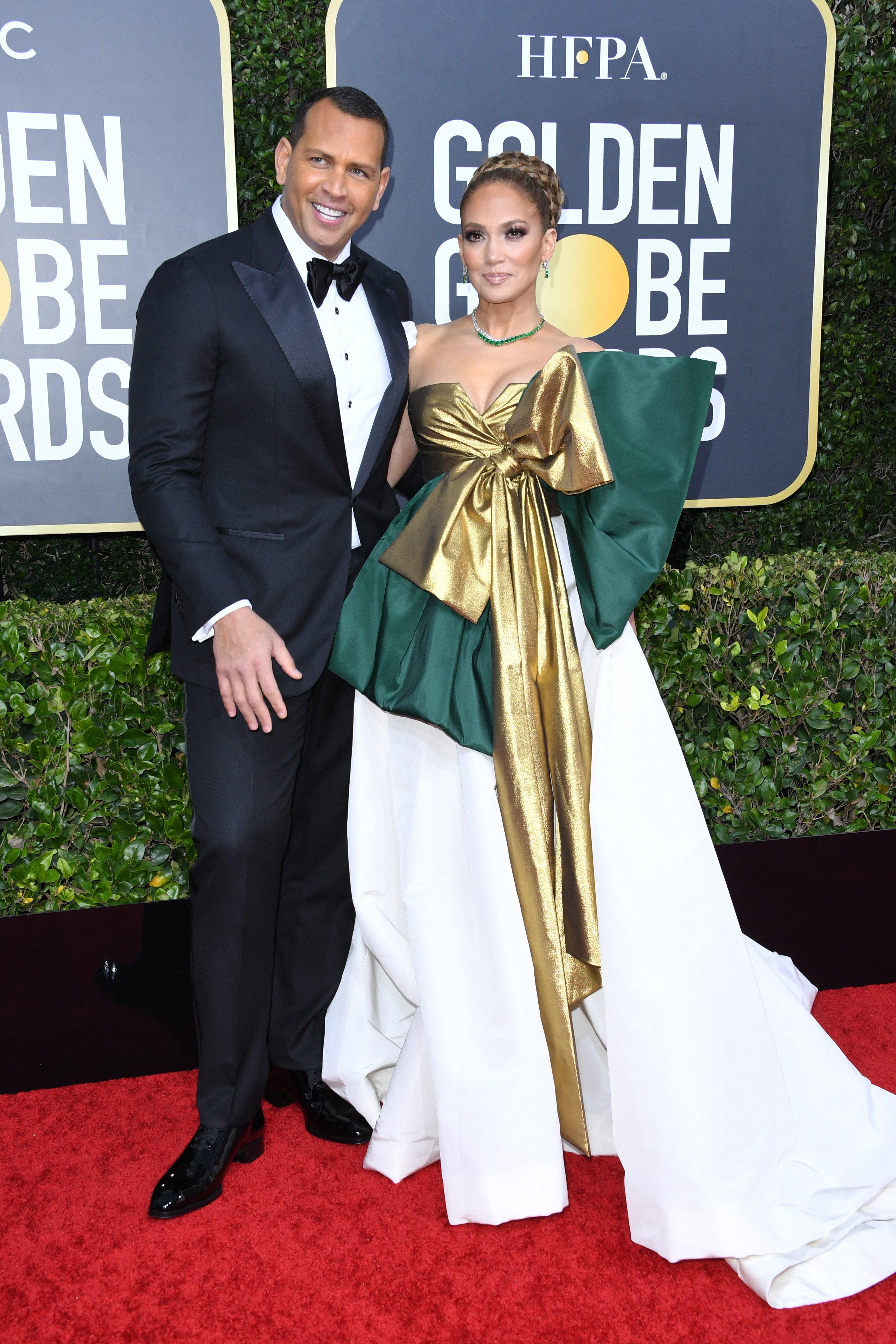 BEVERLY HILLS, CALIFORNIA - JANUARY 05: (L-R) Alex Rodriguez and Jennifer Lopez attend the 77th Annual Golden Globe Awards at The Beverly Hilton Hotel on January 05, 2020 in Beverly Hills, California. (Photo by Jon Kopaloff/Getty Images)