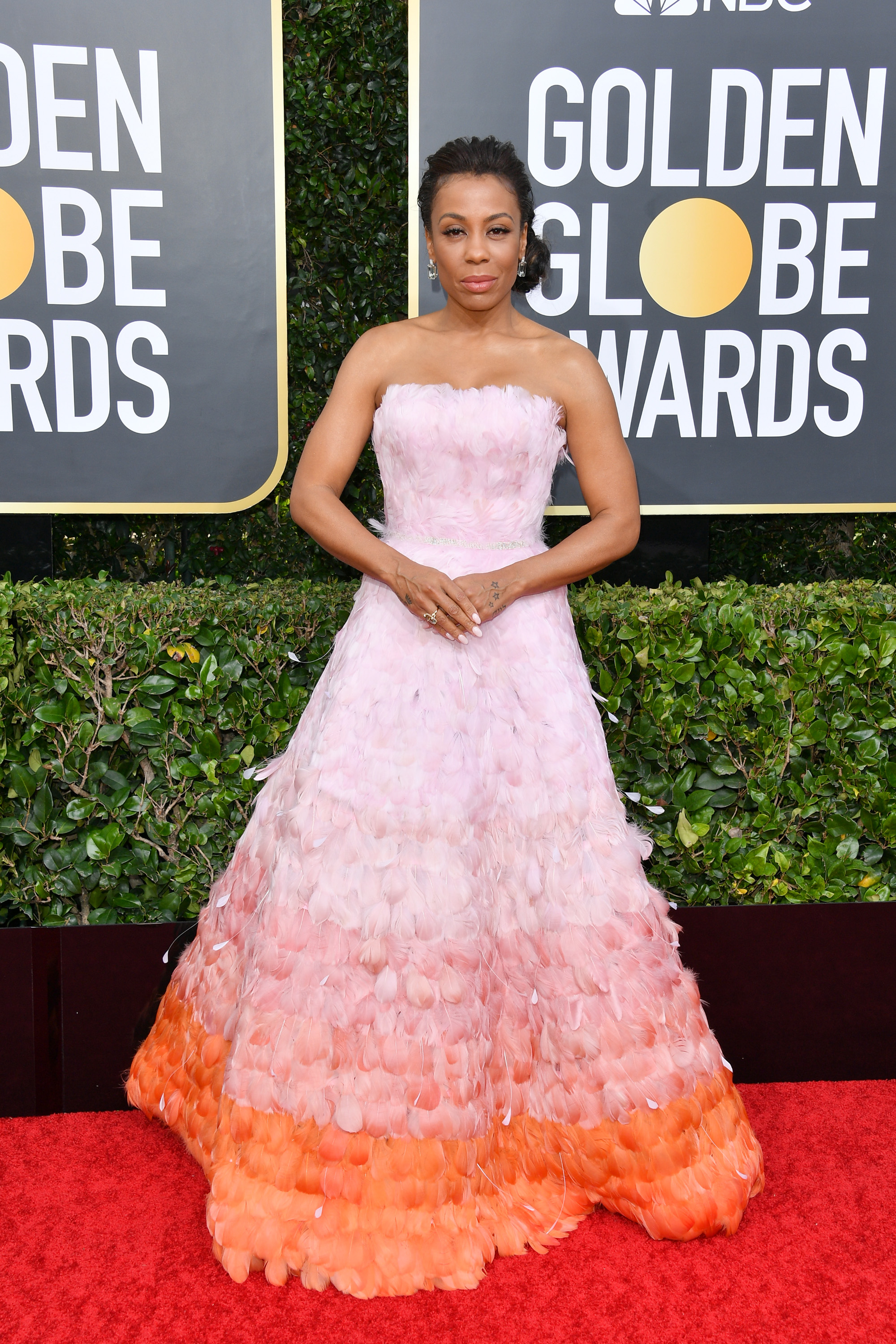 BEVERLY HILLS, CALIFORNIA - JANUARY 05: Karen Pittman attends the 77th Annual Golden Globe Awards at The Beverly Hilton Hotel on January 05, 2020 in Beverly Hills, California. (Photo by George Pimentel/WireImage)