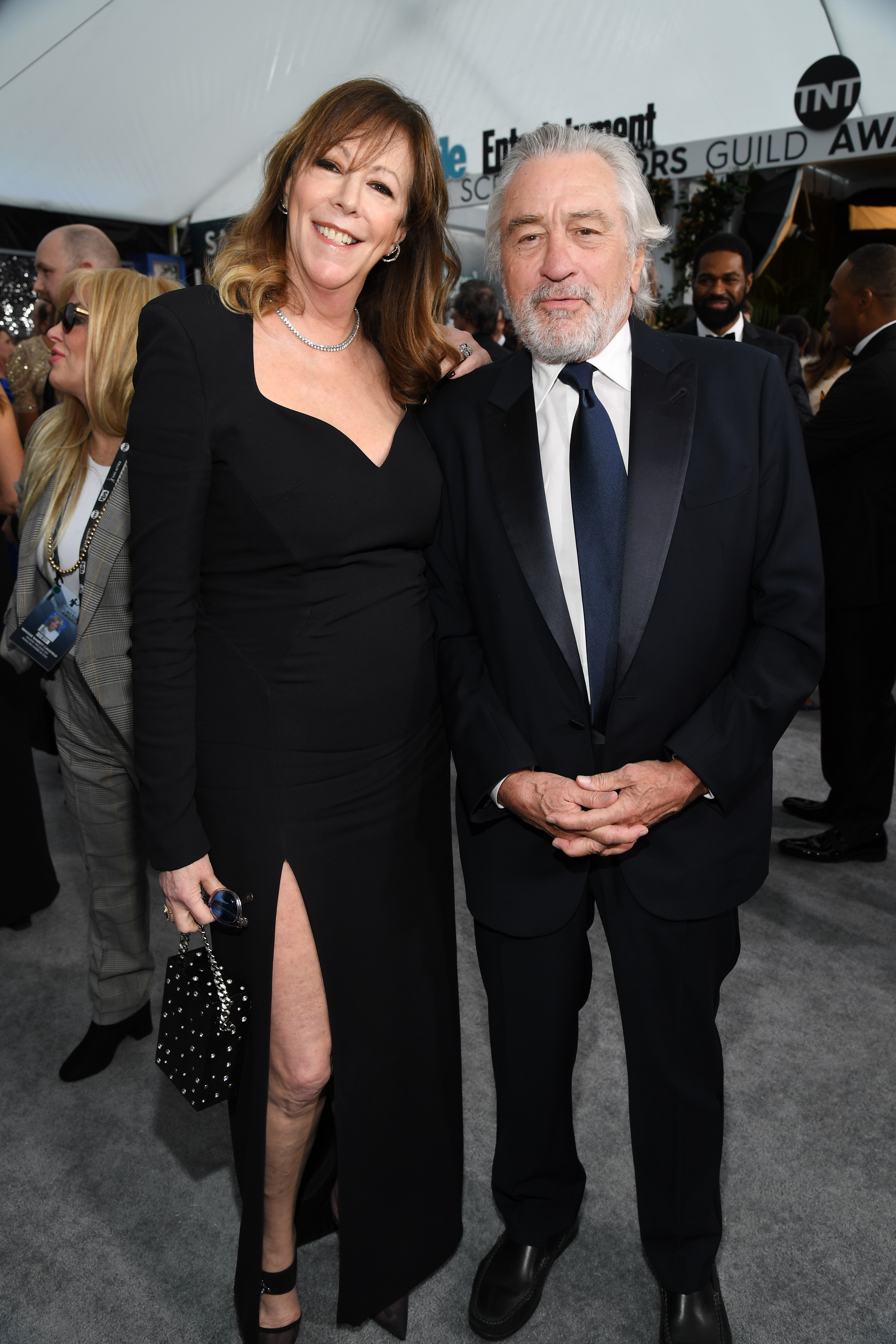 LOS ANGELES, CALIFORNIA - JANUARY 19: (L-R) Jane Rosenthal and Robert De Niro attend the 26th Annual Screen ActorsGuild Awards at The Shrine Auditorium on January 19, 2020 in Los Angeles, California. 721336 (Photo by Kevin Mazur/Getty Images for Turner)