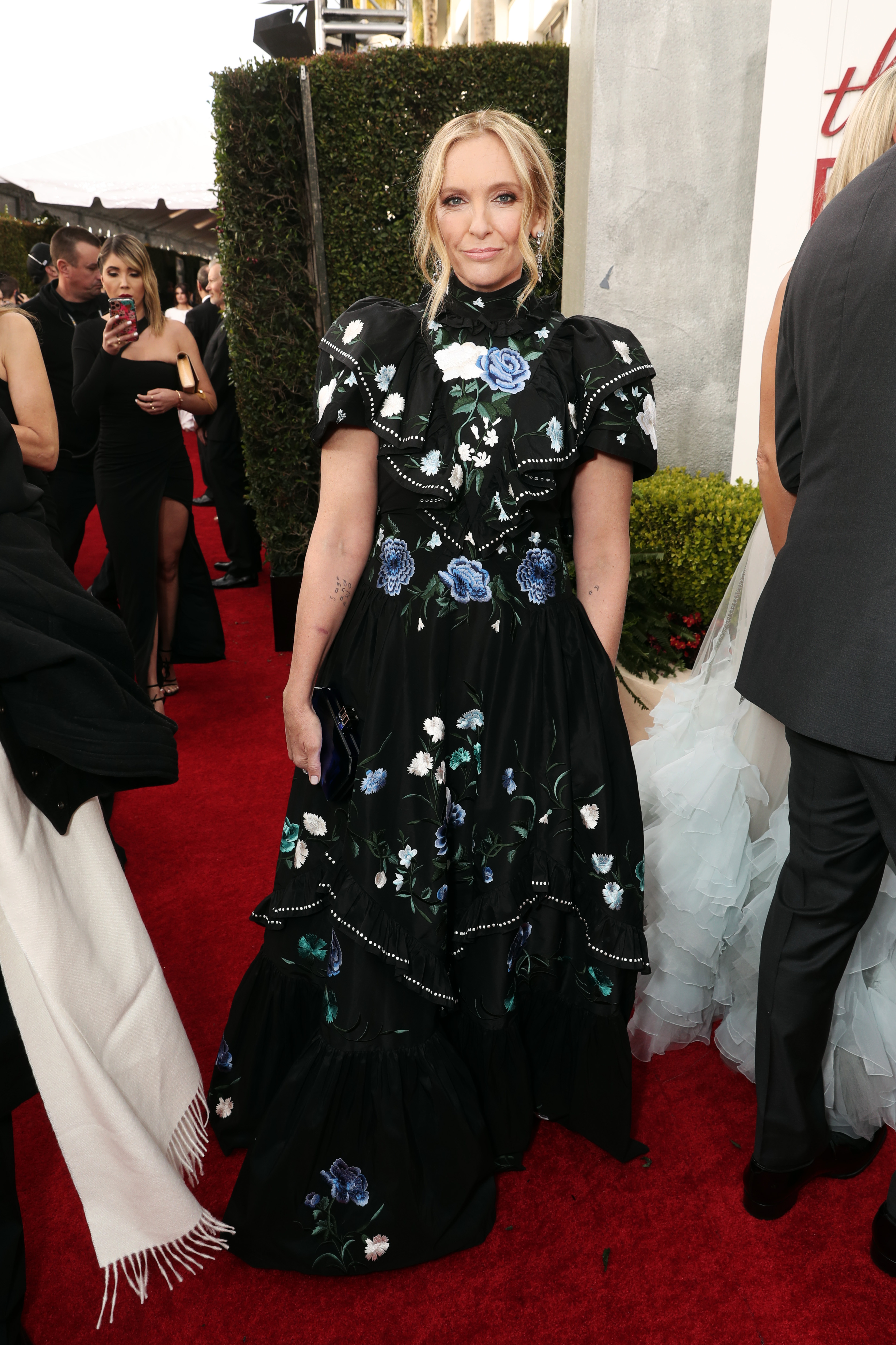 BEVERLY HILLS, CALIFORNIA - JANUARY 05: 77th ANNUAL GOLDEN GLOBE AWARDS -- Pictured: Toni Collette arrives to the 77th Annual Golden Globe Awards held at the Beverly Hilton Hotel on January 5, 2020. -- (Photo by: Todd Williamson/NBC/NBCU Photo Bank via Getty Images)