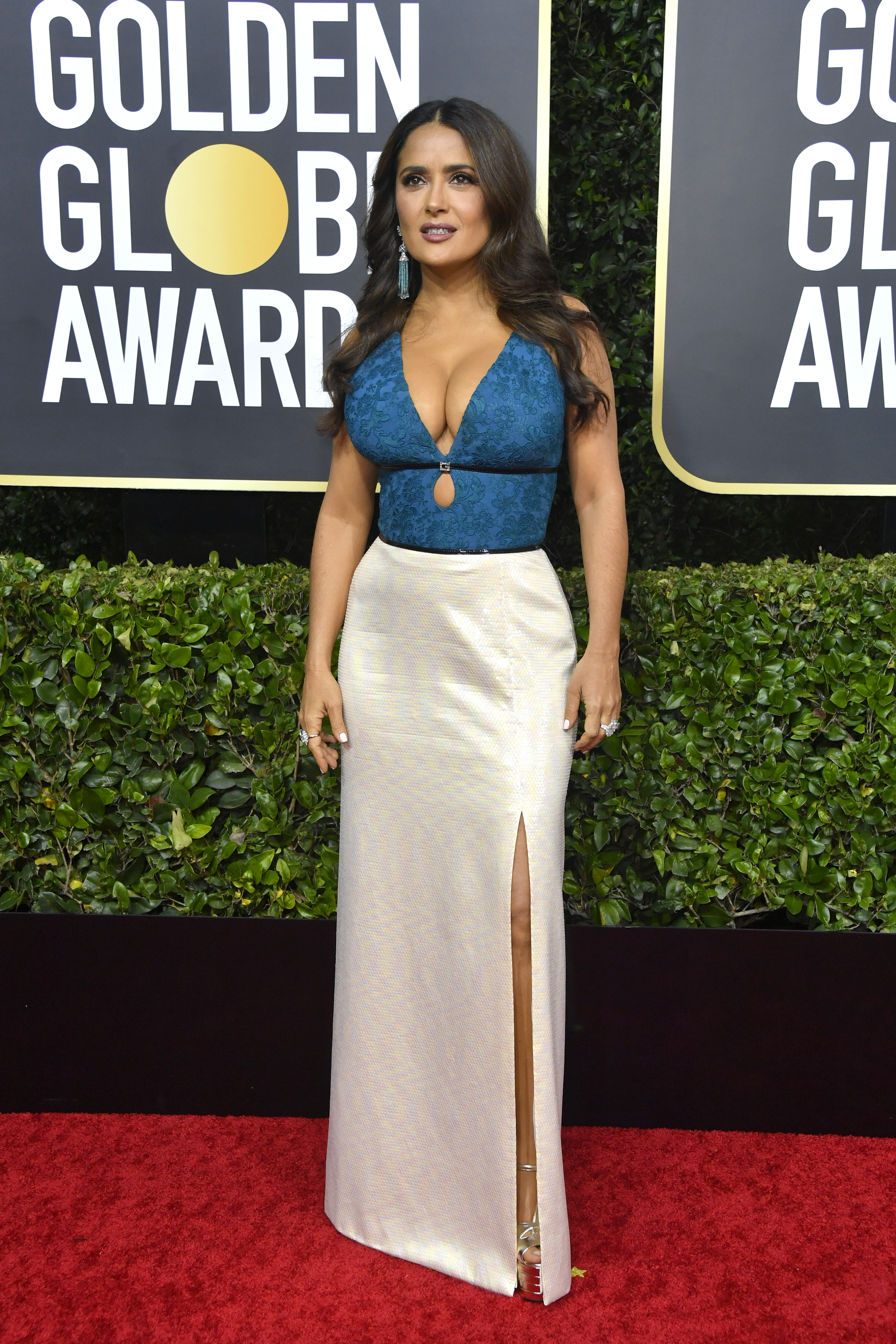 BEVERLY HILLS, CALIFORNIA - JANUARY 05: Salma Hayek attends the 77th Annual Golden Globe Awards at The Beverly Hilton Hotel on January 05, 2020 in Beverly Hills, California. (Photo by Frazer Harrison/Getty Images)