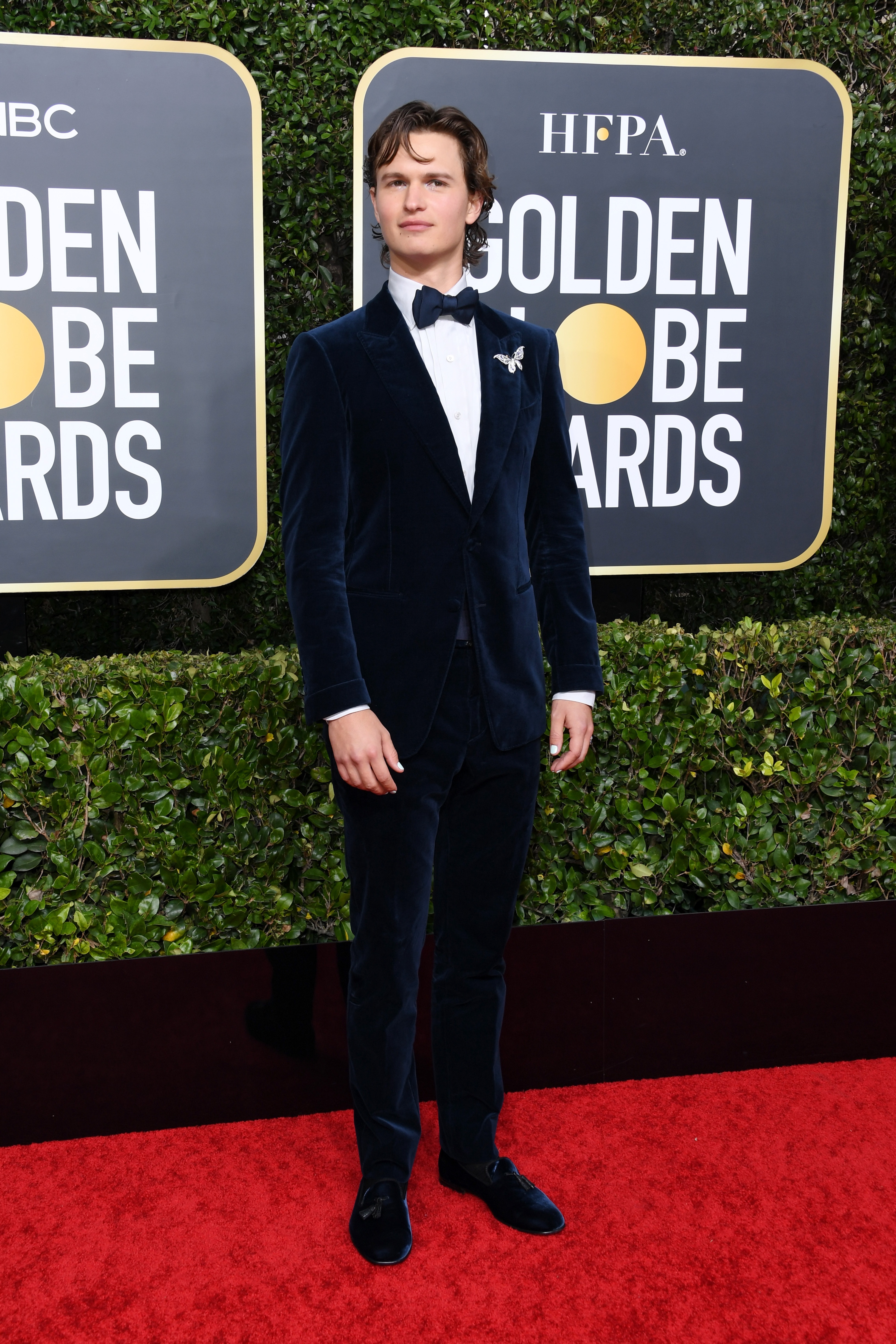BEVERLY HILLS, CALIFORNIA - JANUARY 05: Ansel Elgort attends the 77th Annual Golden Globe Awards at The Beverly Hilton Hotel on January 05, 2020 in Beverly Hills, California. (Photo by Jon Kopaloff/Getty Images)
