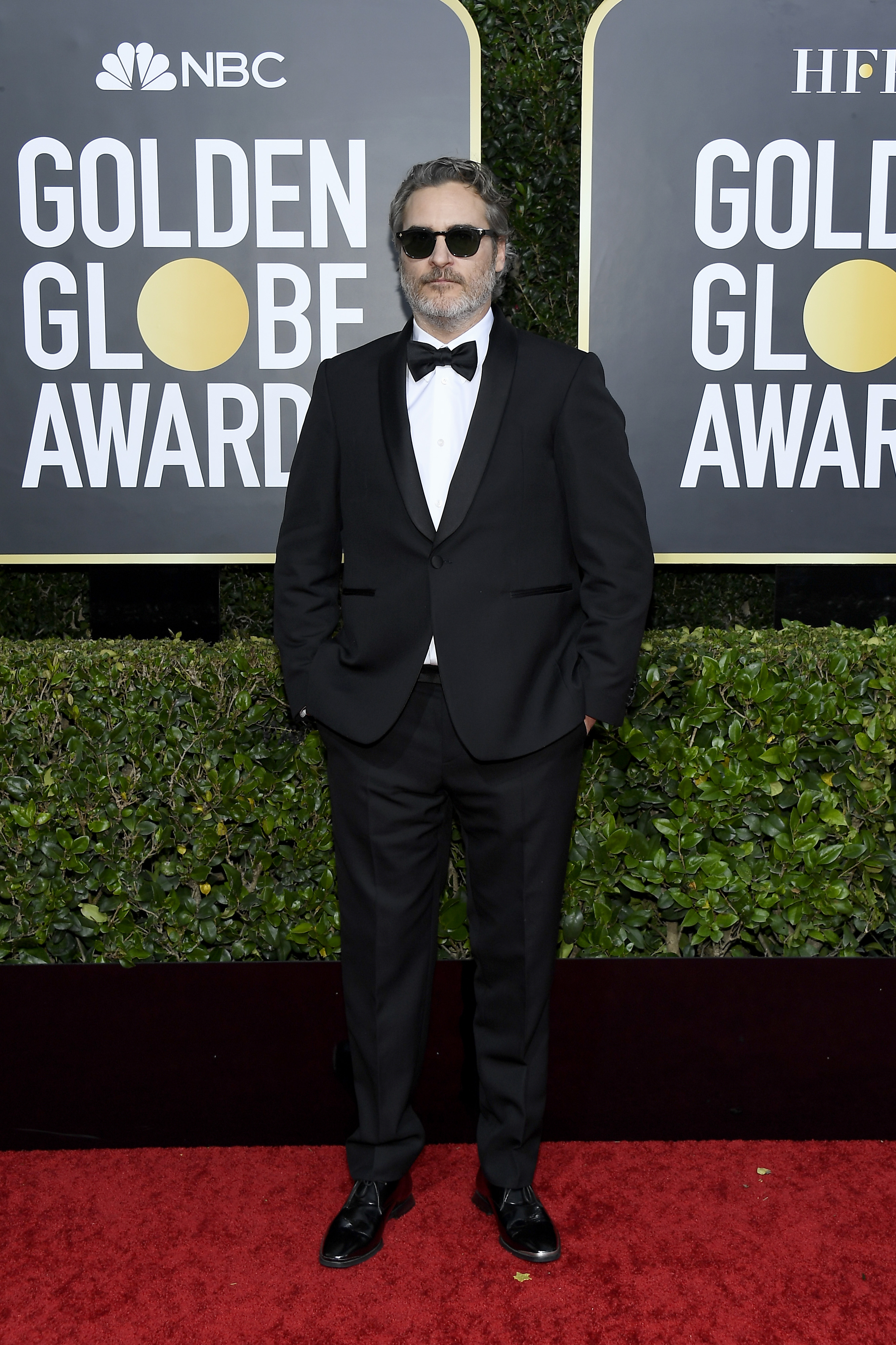 BEVERLY HILLS, CALIFORNIA - JANUARY 05: 77th ANNUAL GOLDEN GLOBE AWARDS -- Pictured: Joaquin Phoenix arrives to the 77th Annual Golden Globe Awards held at the Beverly Hilton Hotel on January 5, 2020. -- (Photo by: Kevork Djansezian/NBC/NBCU Photo Bank via Getty Images)
