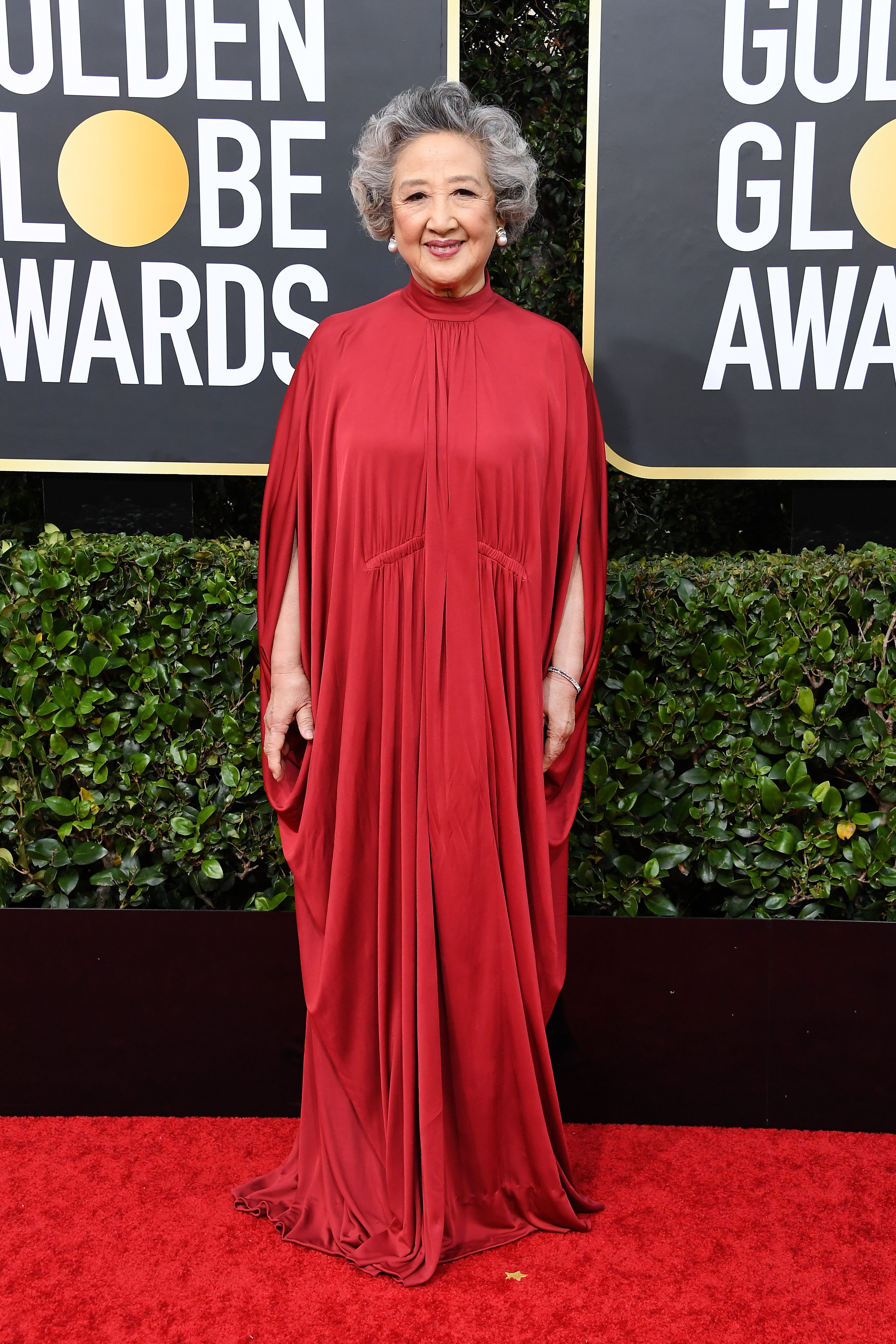 BEVERLY HILLS, CALIFORNIA - JANUARY 05: Zhao Shuzhen attends the 77th Annual Golden Globe Awards at The Beverly Hilton Hotel on January 05, 2020 in Beverly Hills, California. (Photo by Steve Granitz/WireImage)