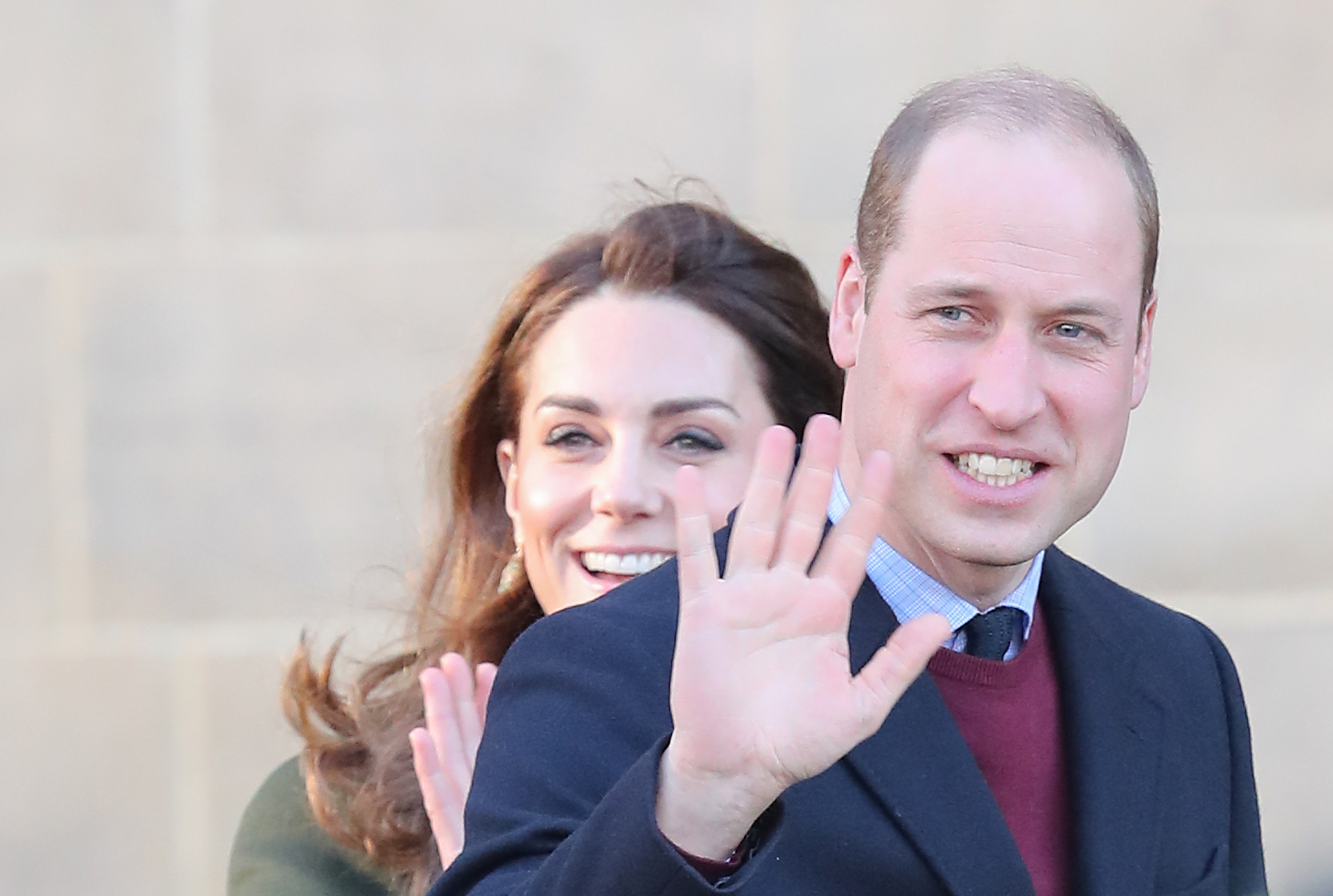 BRADFORD, ENGLAND - JANUARY 15: Catherine, Duchess of Cambridge and Prince William, Duke of Cambridge arrive at City Hall on January 15, 2020 in Bradford, United Kingdom. The Duke and Duchess will meet with representatives from local employers and businesses who are helping young people into employment. (Photo by Chris Jackson/Getty Images) (Photo by Chris Jackson/Getty Images)