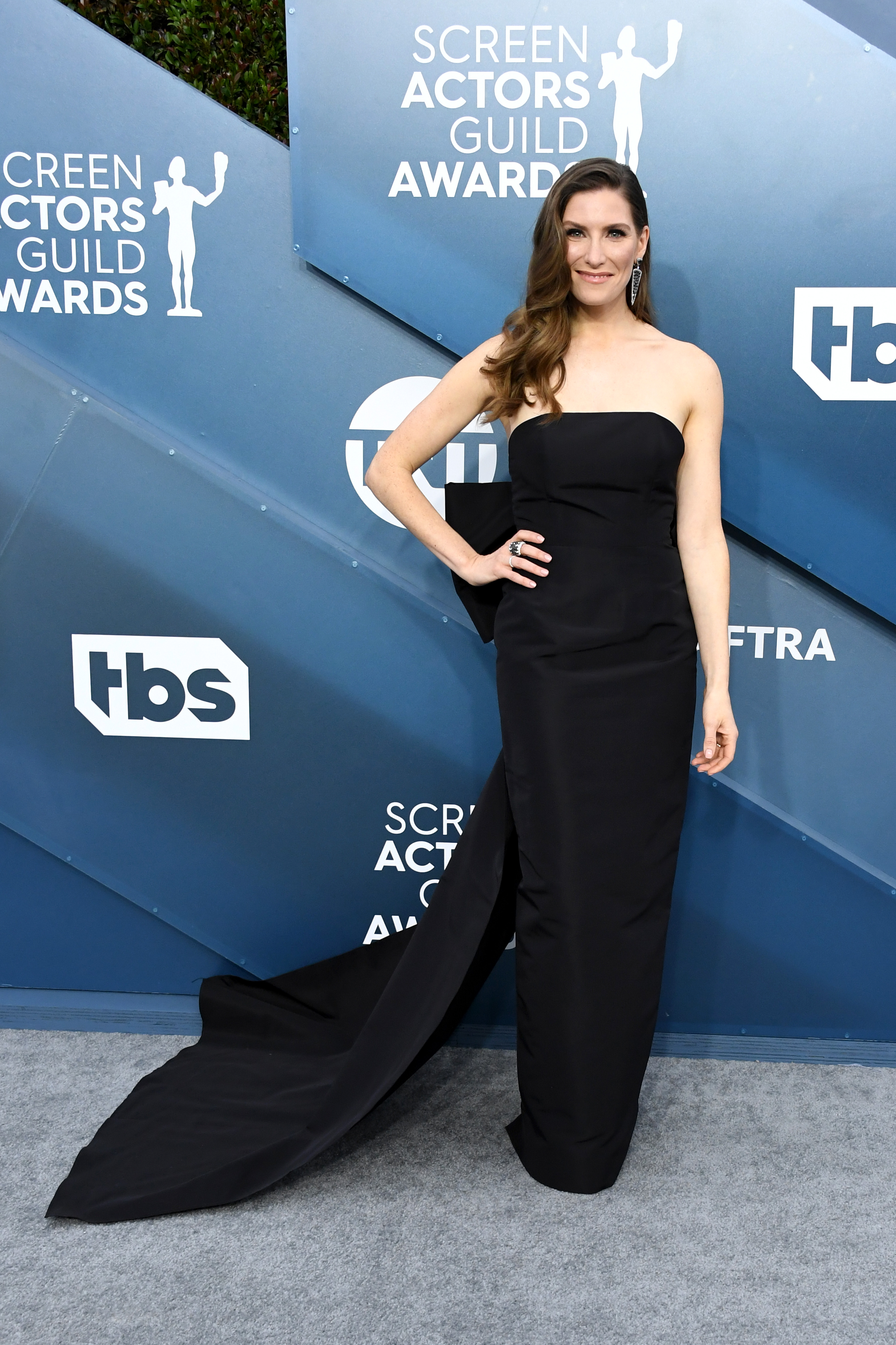 LOS ANGELES, CALIFORNIA - JANUARY 19: Sarah Levy attends the 26th Annual Screen ActorsGuild Awards at The Shrine Auditorium on January 19, 2020 in Los Angeles, California. (Photo by Jon Kopaloff/Getty Images)