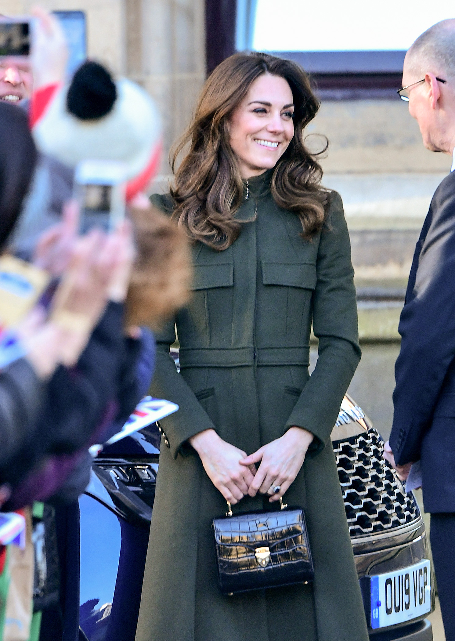 BRADFORD, ENGLAND - JANUARY 15: The Duchess of Cambridge visits City Hall in Bradford's Centenary Square, to join a group of young people from across the community to hear about life in Bradford, on January 15, 2020 in Bradford, United Kingdom. (Photo by Samir Hussein/WireImage)