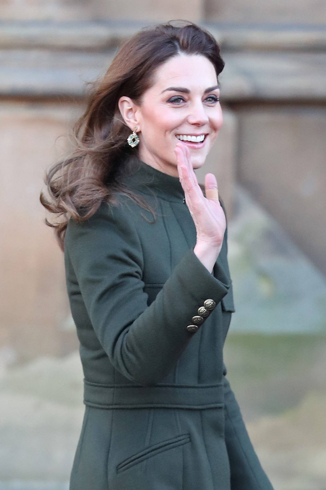 BRADFORD, ENGLAND - JANUARY 15: Catherine, Duchess of Cambridge arrives at City Hall on January 15, 2020 in Bradford, United Kingdom. The Duke and Duchess will meet with representatives from local employers and businesses who are helping young people into employment. (Photo by Chris Jackson/Getty Images) (Photo by Chris Jackson/Getty Images)