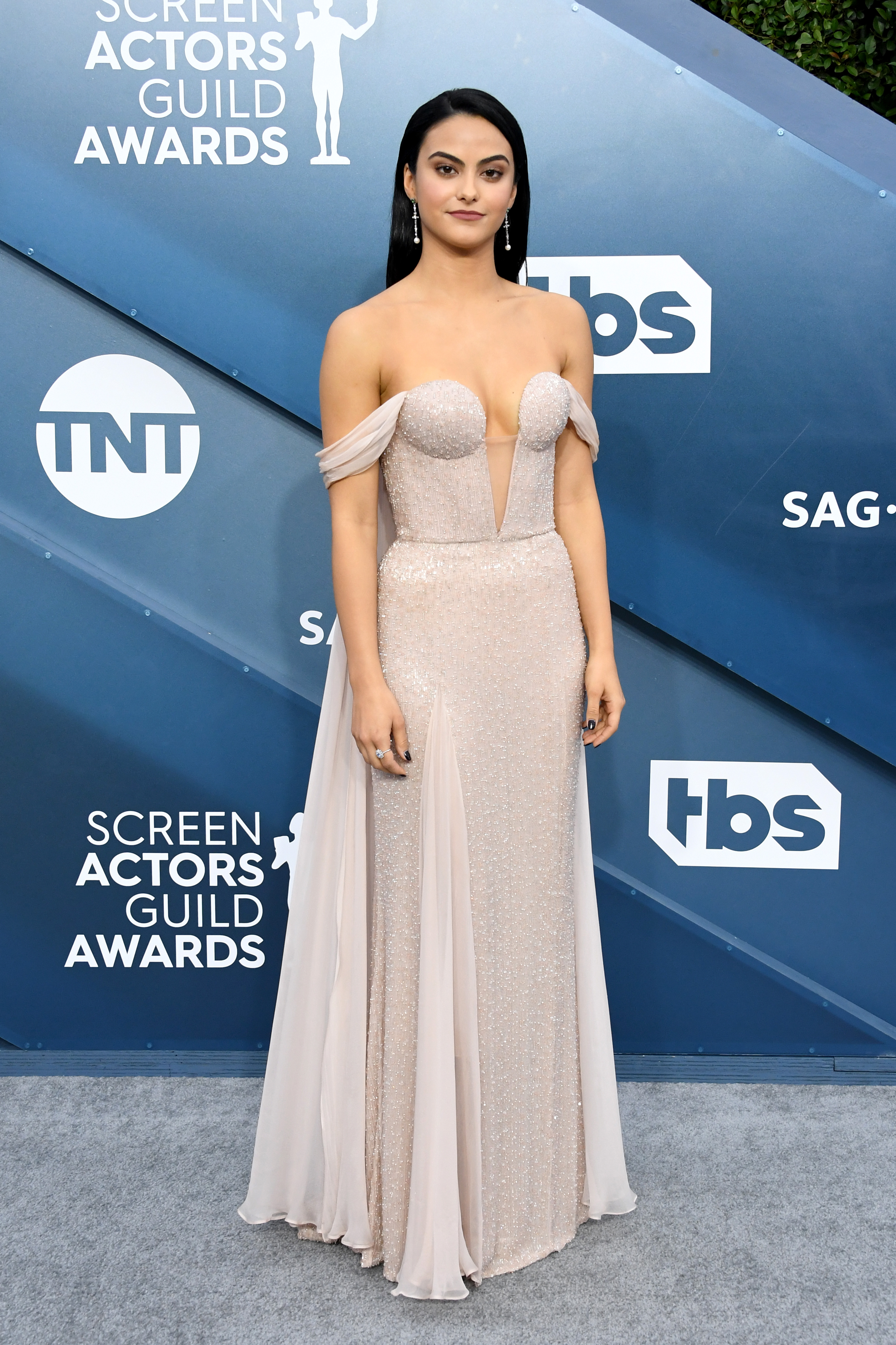 LOS ANGELES, CALIFORNIA - JANUARY 19: Camila Mendes attends the 26th Annual Screen ActorsGuild Awards at The Shrine Auditorium on January 19, 2020 in Los Angeles, California. (Photo by Jon Kopaloff/Getty Images)