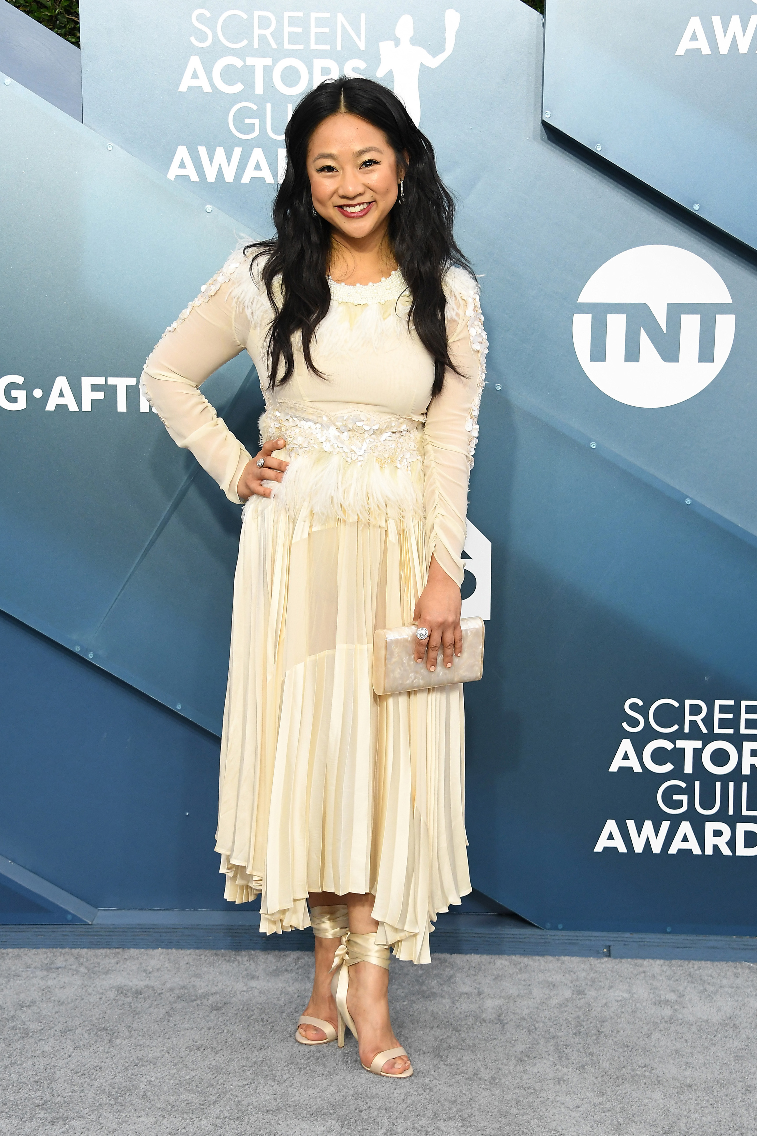 LOS ANGELES, CALIFORNIA - JANUARY 19: Stephanie Hsu attends the 26th Annual Screen ActorsGuild Awards at The Shrine Auditorium on January 19, 2020 in Los Angeles, California. (Photo by Steve Granitz/WireImage)