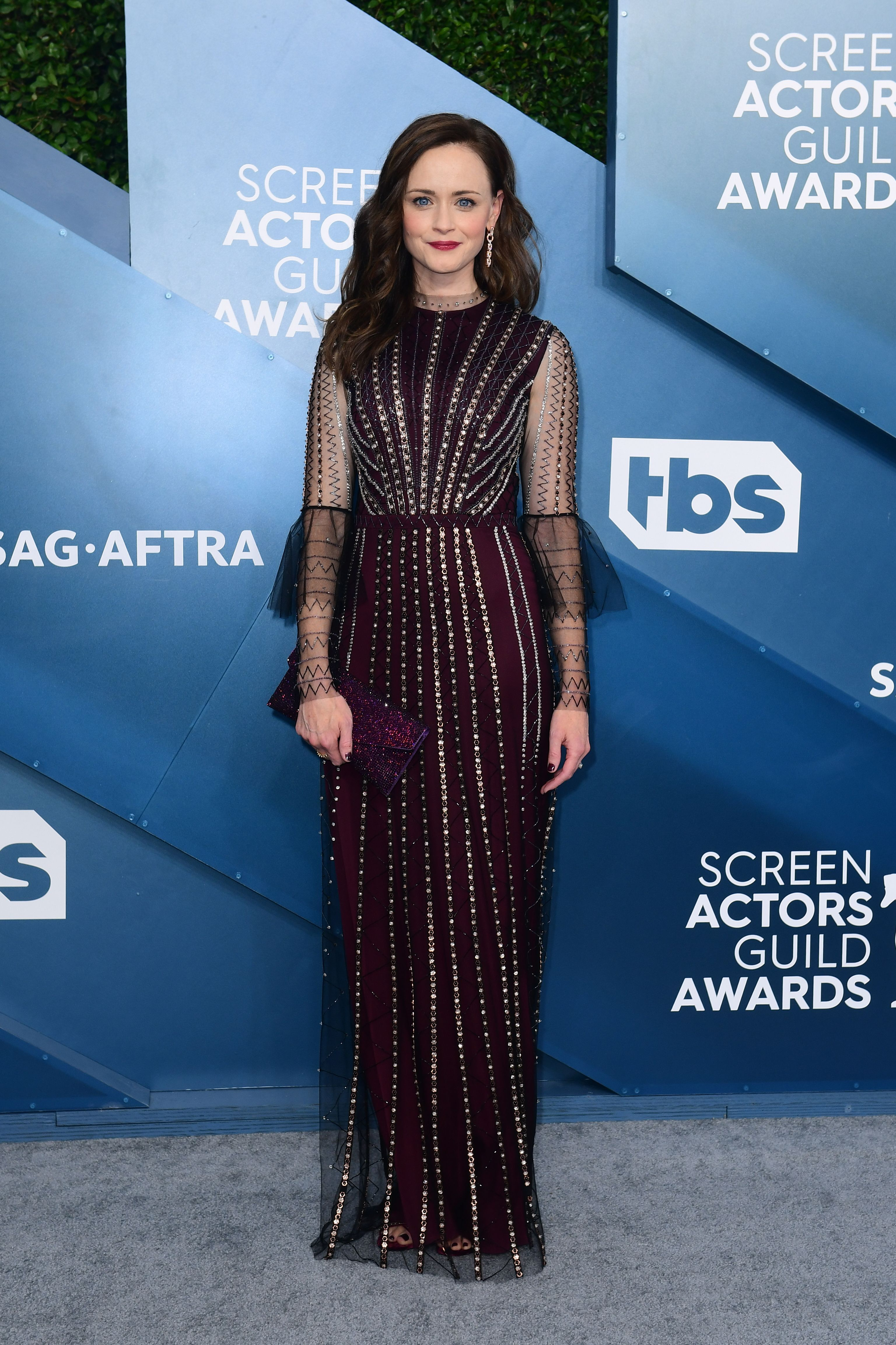 US actress Alexis Bledel arrives for the 26th Annual Screen Actors Guild Awards at the Shrine Auditorium in Los Angeles on January 19, 2020. (Photo by FREDERIC J. BROWN / AFP) (Photo by FREDERIC J. BROWN/AFP via Getty Images)