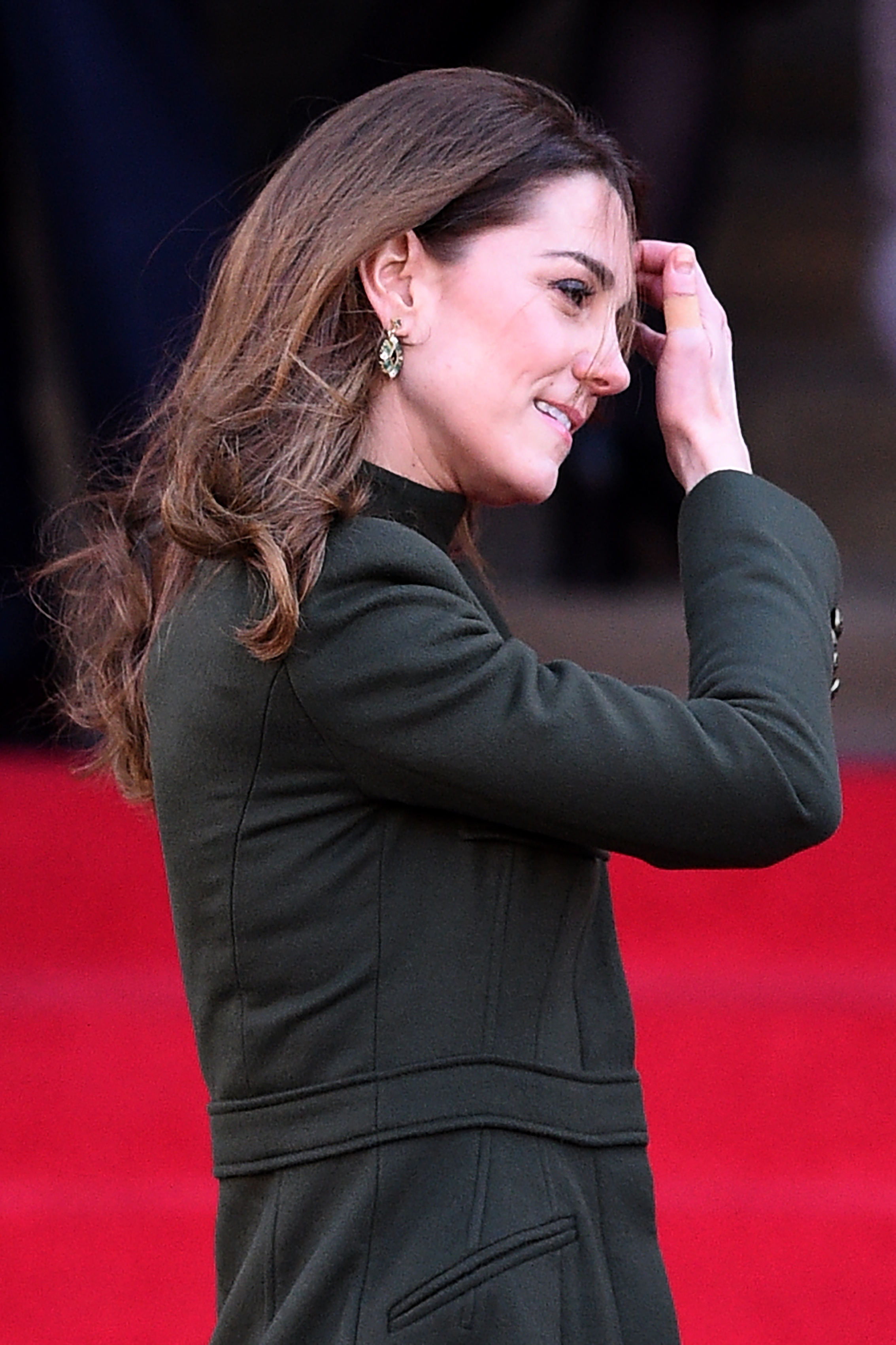 Britain's Catherine, Duchess of Cambridge arrives for a visit to City Hall in Centenary Square, Bradford on January 15, 2020, to meet young people and hear about their life in Bradford. (Photo by Oli SCARFF / AFP) (Photo by OLI SCARFF/AFP via Getty Images)