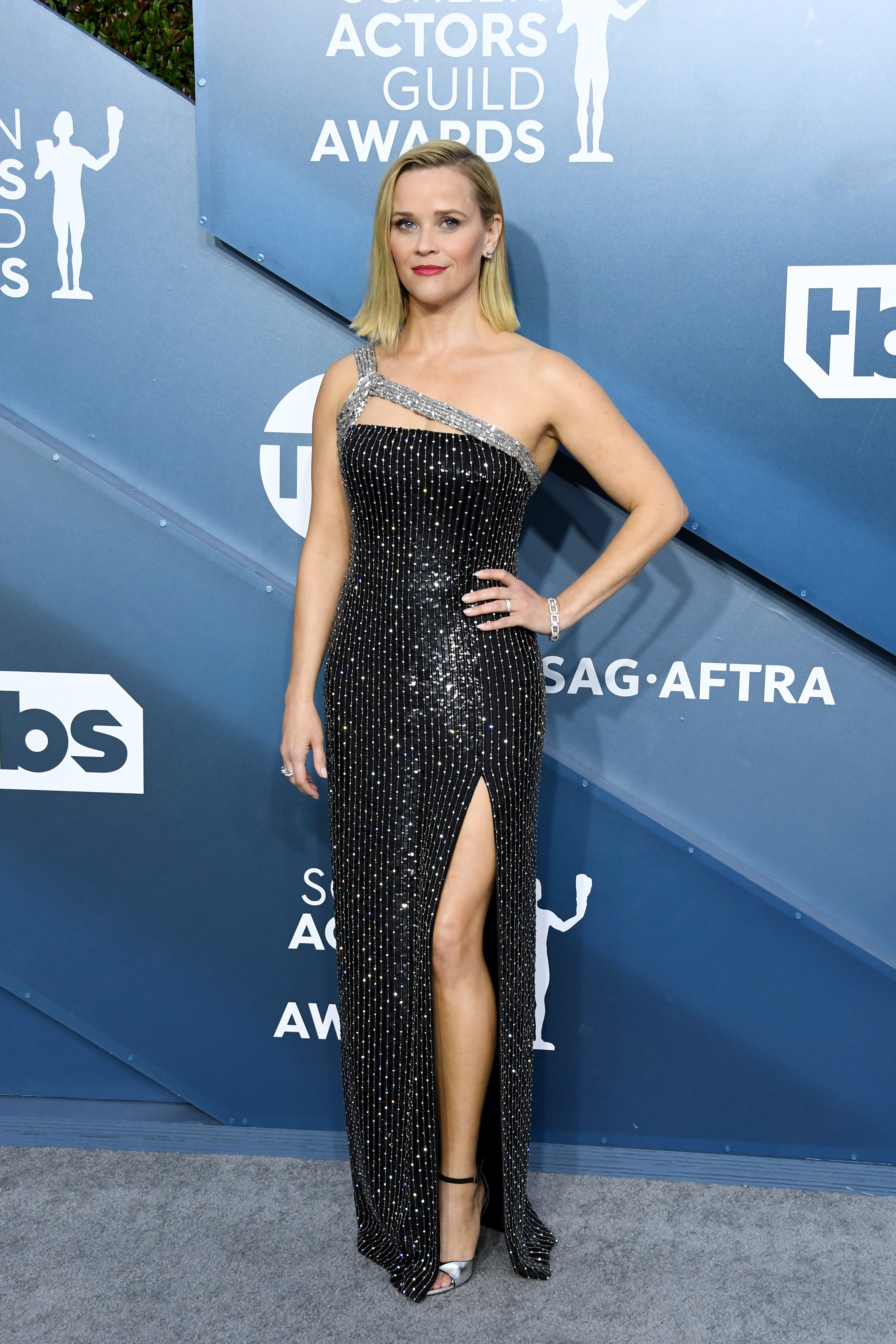 LOS ANGELES, CALIFORNIA - JANUARY 19: Reese Witherspoon attends the 26th Annual Screen ActorsGuild Awards at The Shrine Auditorium on January 19, 2020 in Los Angeles, California. (Photo by Jon Kopaloff/Getty Images)
