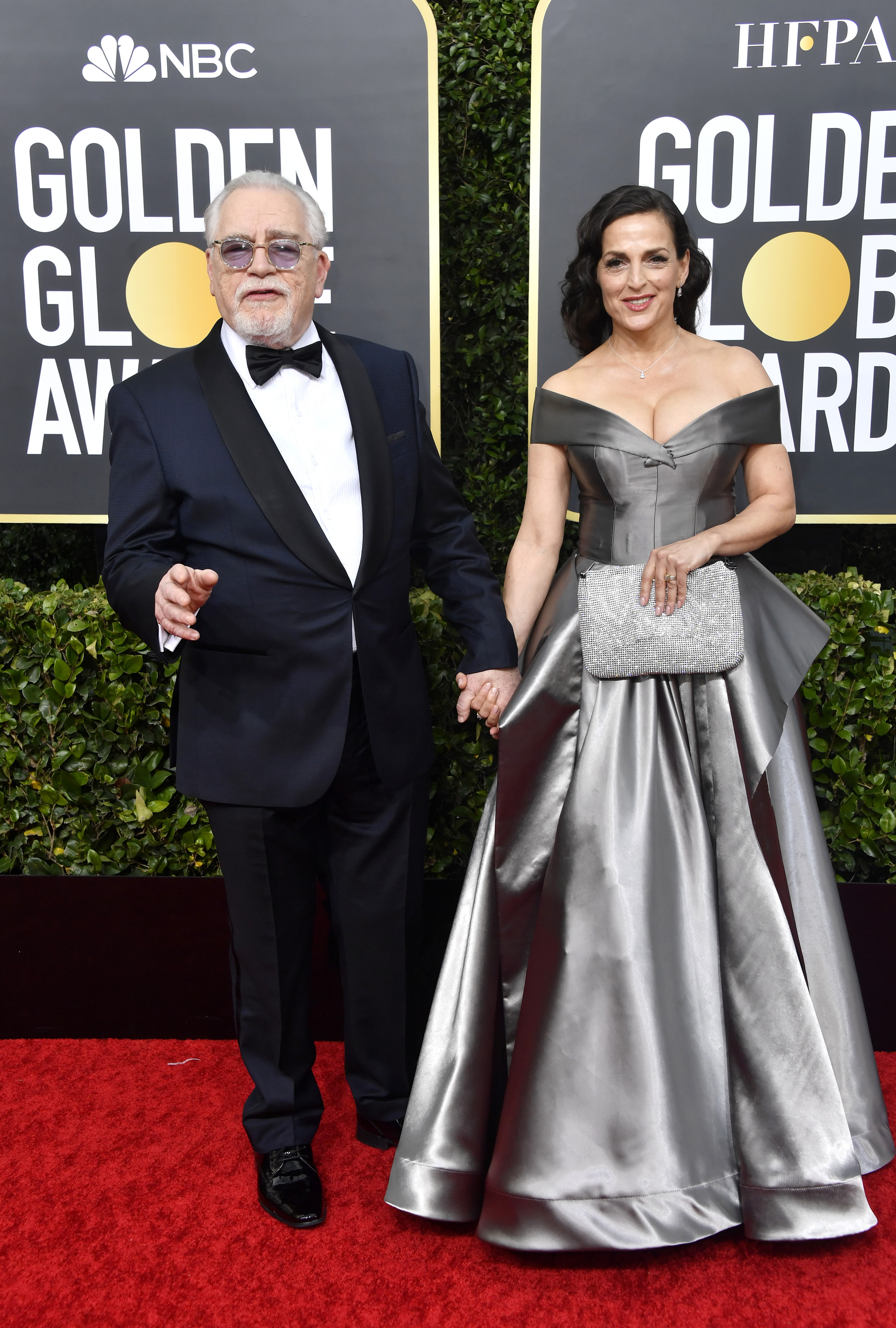 BEVERLY HILLS, CALIFORNIA - JANUARY 05: (L-R) Brian Cox and Nicole Ansari-Cox attend the 77th Annual Golden Globe Awards at The Beverly Hilton Hotel on January 05, 2020 in Beverly Hills, California. (Photo by Frazer Harrison/Getty Images)