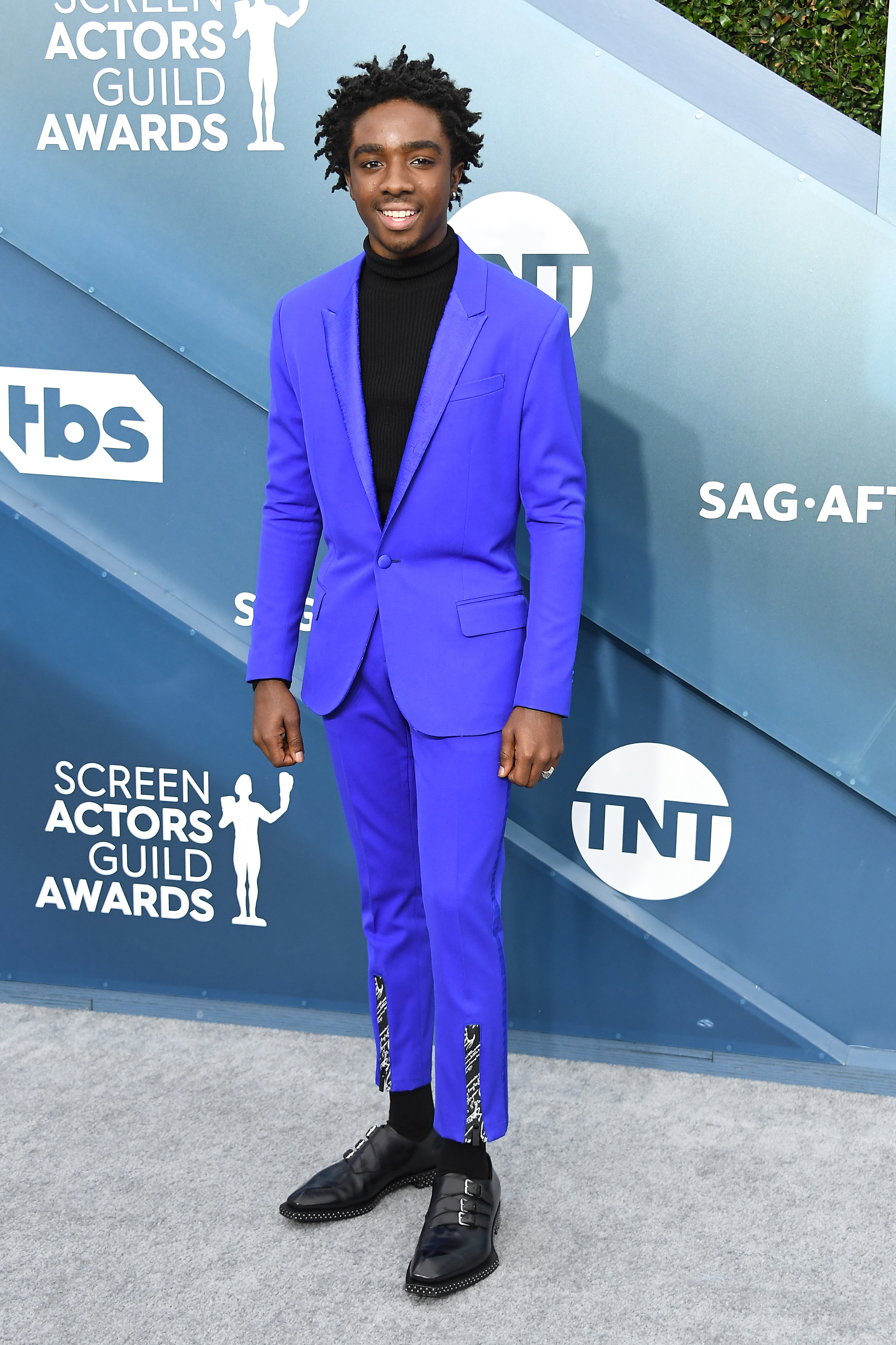 LOS ANGELES, CALIFORNIA - JANUARY 19: Caleb McLaughlin attends the 26th Annual Screen ActorsGuild Awards at The Shrine Auditorium on January 19, 2020 in Los Angeles, California. (Photo by Steve Granitz/WireImage)