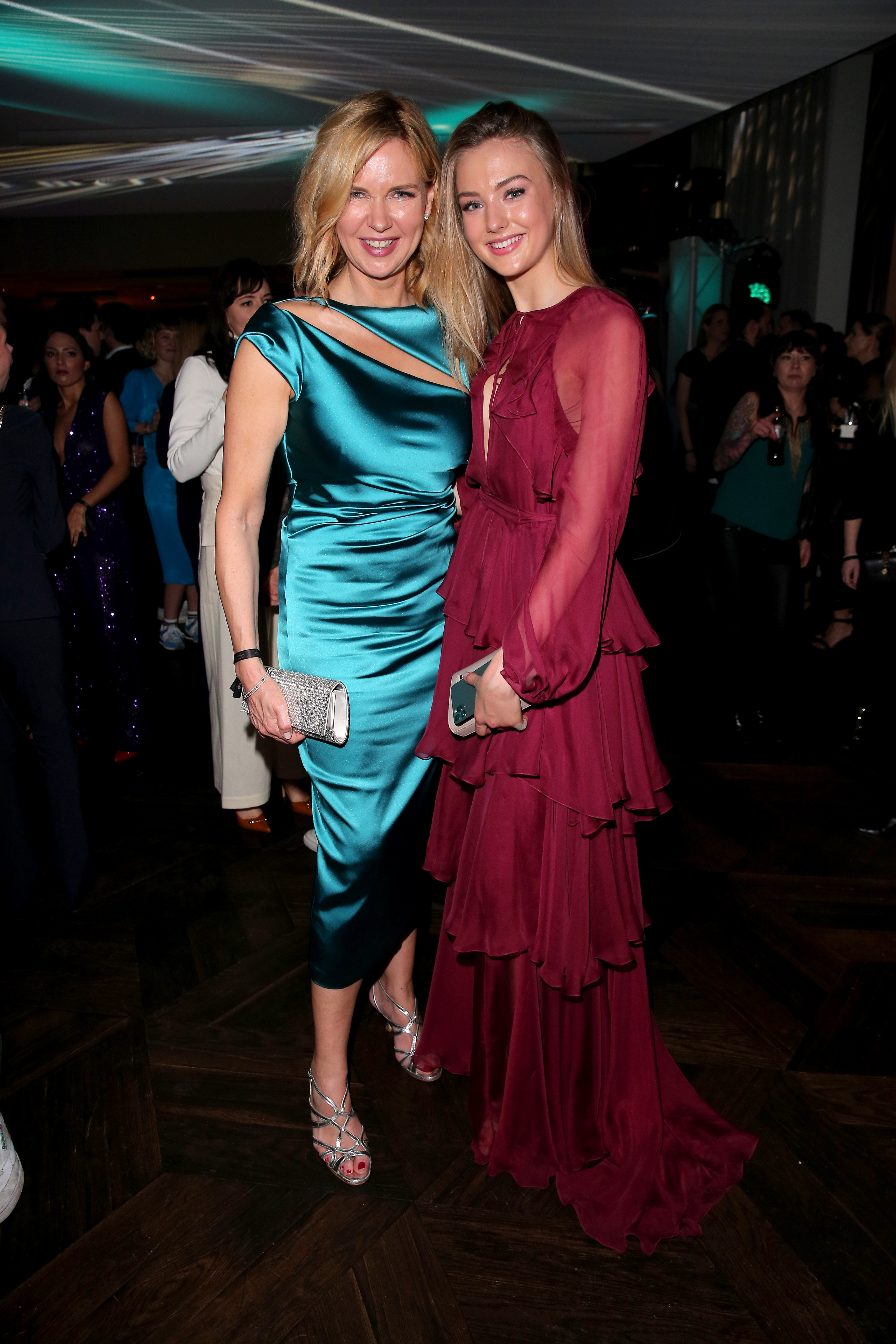 """BERLIN, GERMANY - FEBRUARY 20: (L-R) Veronica Ferres and her daughter Lilly Krug attend the Berlin Opening Night by Bertelsmann Content Alliance at hotel """"Das Stue""""  on February 20, 2020 in Berlin, Germany. (Photo by Gisela Schober/ Bertelsmann Content Alliance)"""