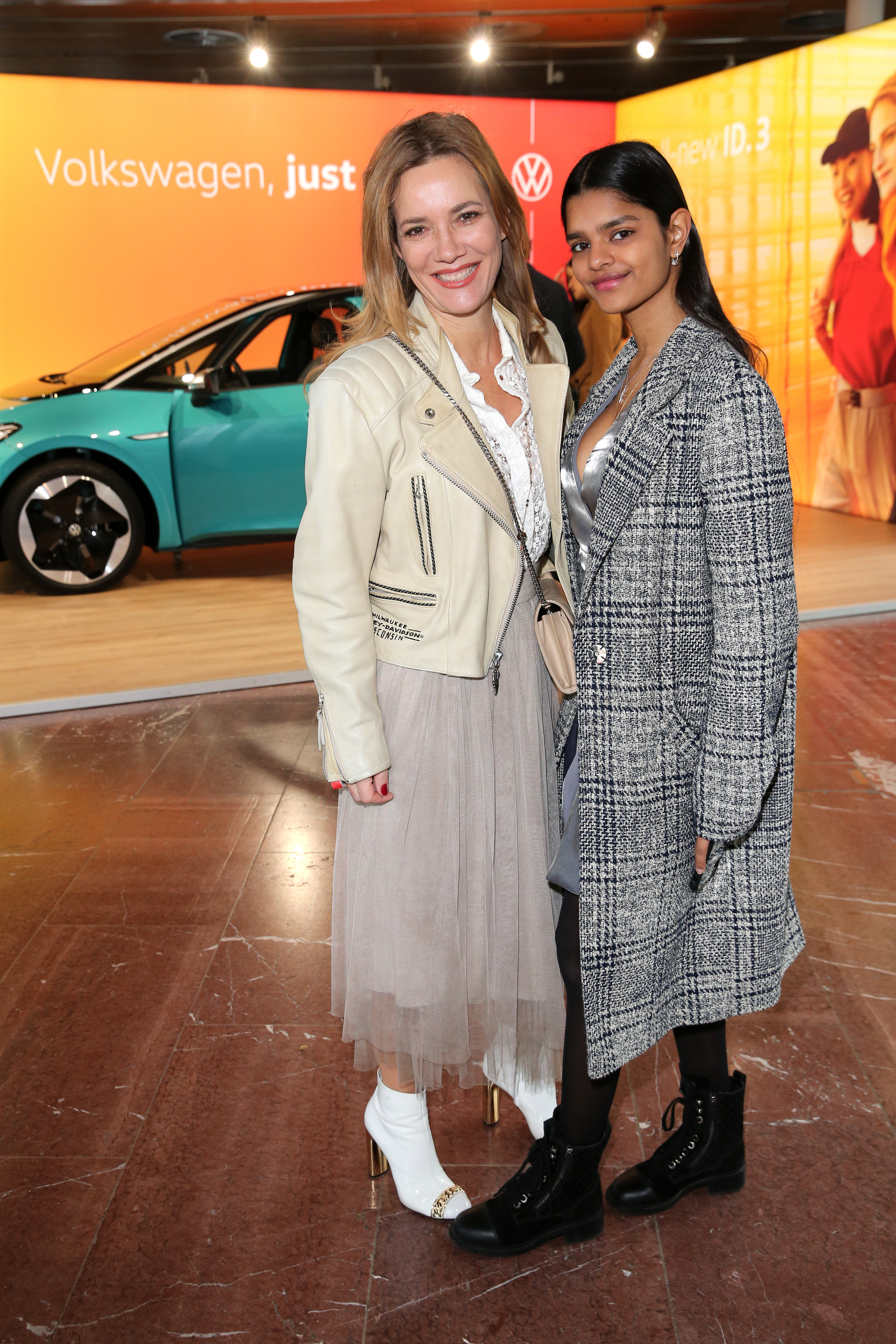 BERLIN, GERMANY - JANUARY 15: Jessica Stockmann and her daughter Nisha Stockmann during the VW at Instyle Lounge event as part of the Berlin Fashion Week Autumn/Winter 2020 at Cafe Moskau on January 15, 2020 in Berlin, Germany. (Photo by Gisela Schober/Getty Images for Volkswagen AG)
