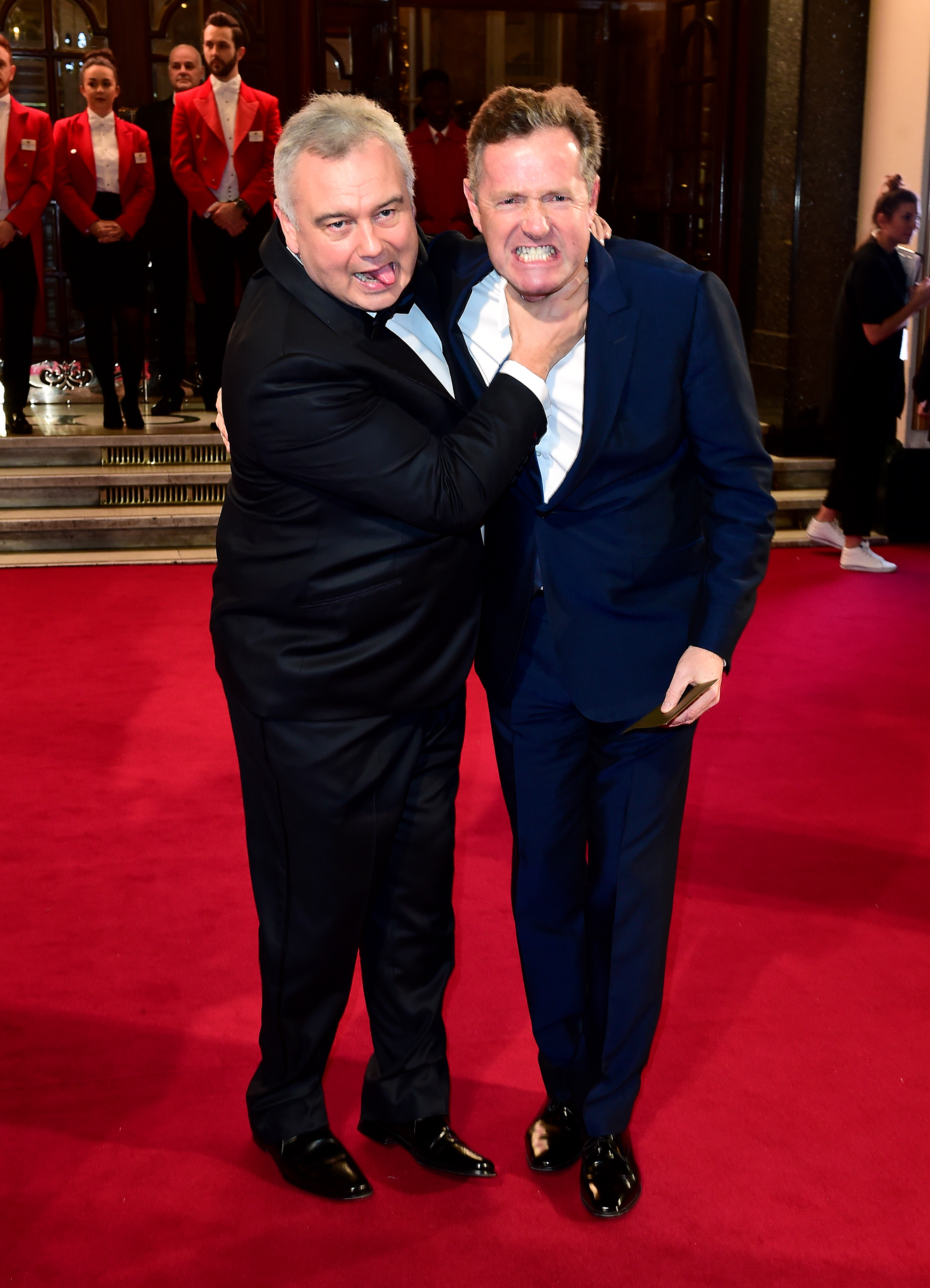 Eamonn Holmes and Piers Morgan (right) attending the ITV Gala at the London Palladium. PRESS ASSOCIATION Photo. Picture date: Thursday November 19, 2015. See PA story SHOWBIZ ITV. Photo credit should read: Ian West/PA Wire