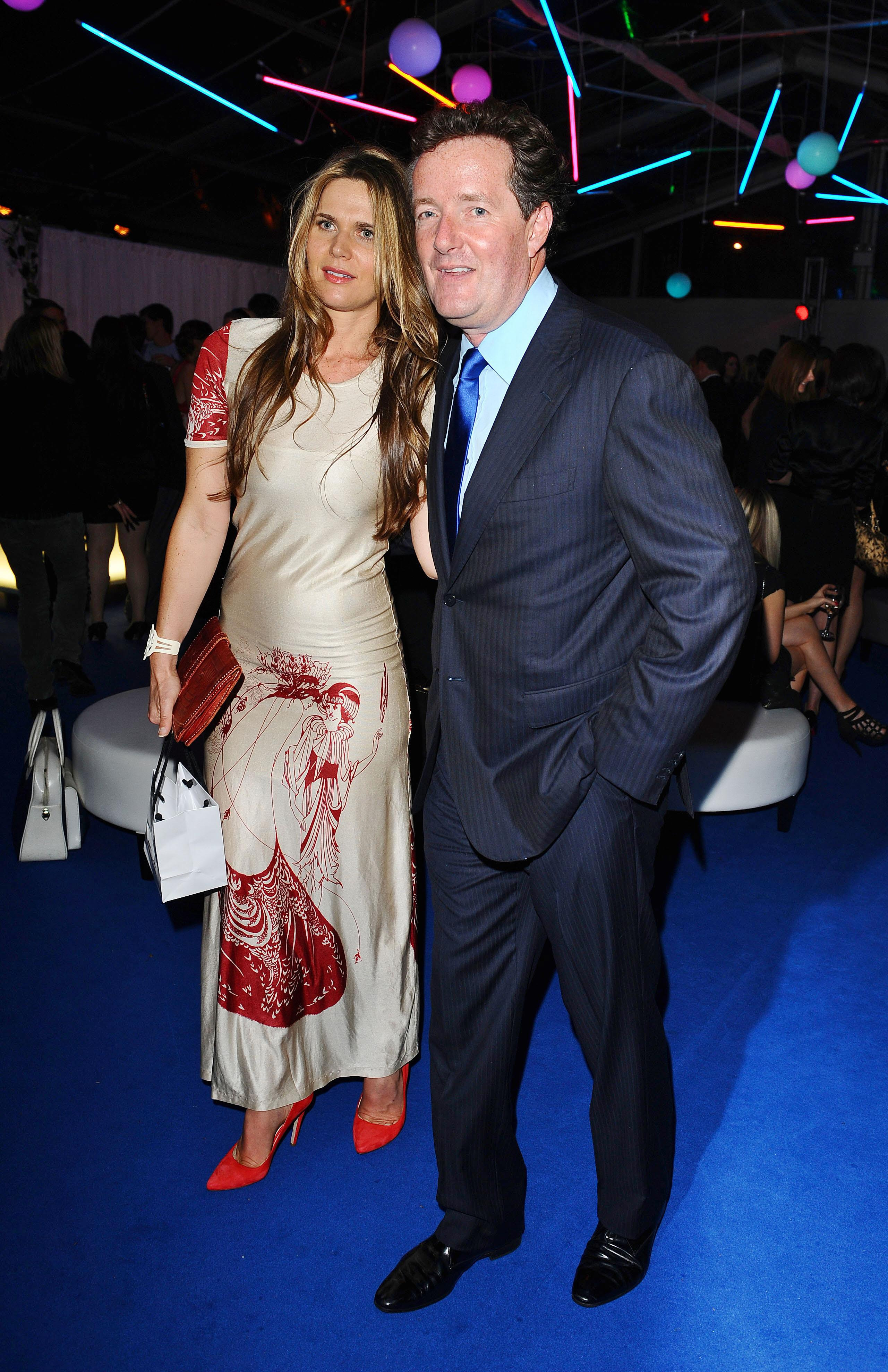 Celia Walden and Piers Morgan at the Glamour Women of the Year Awards in Berkeley Square, London.