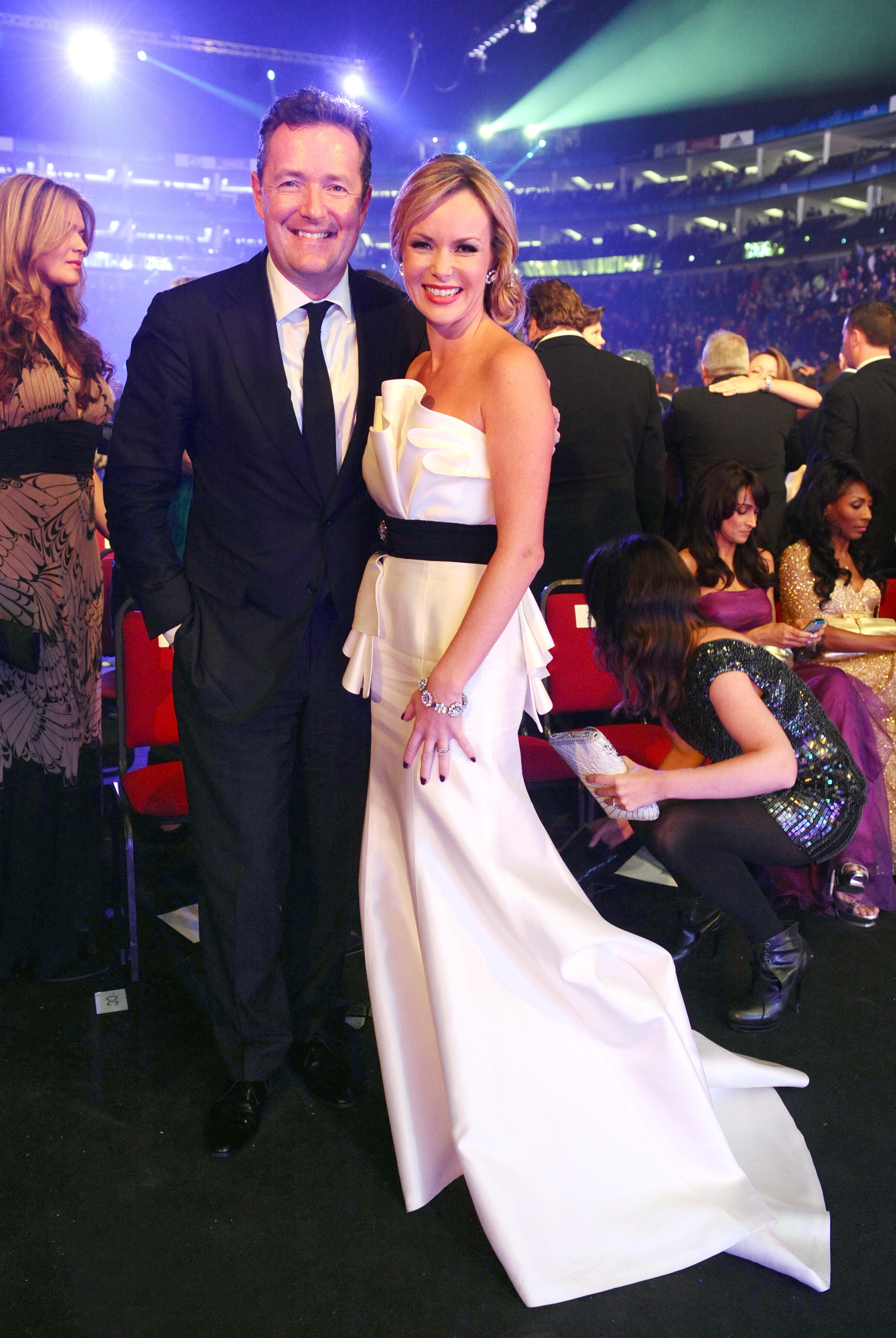 Piers Morgan and Amanda Holden during the National Television Awards 2010, at the 02 Arena, London.
