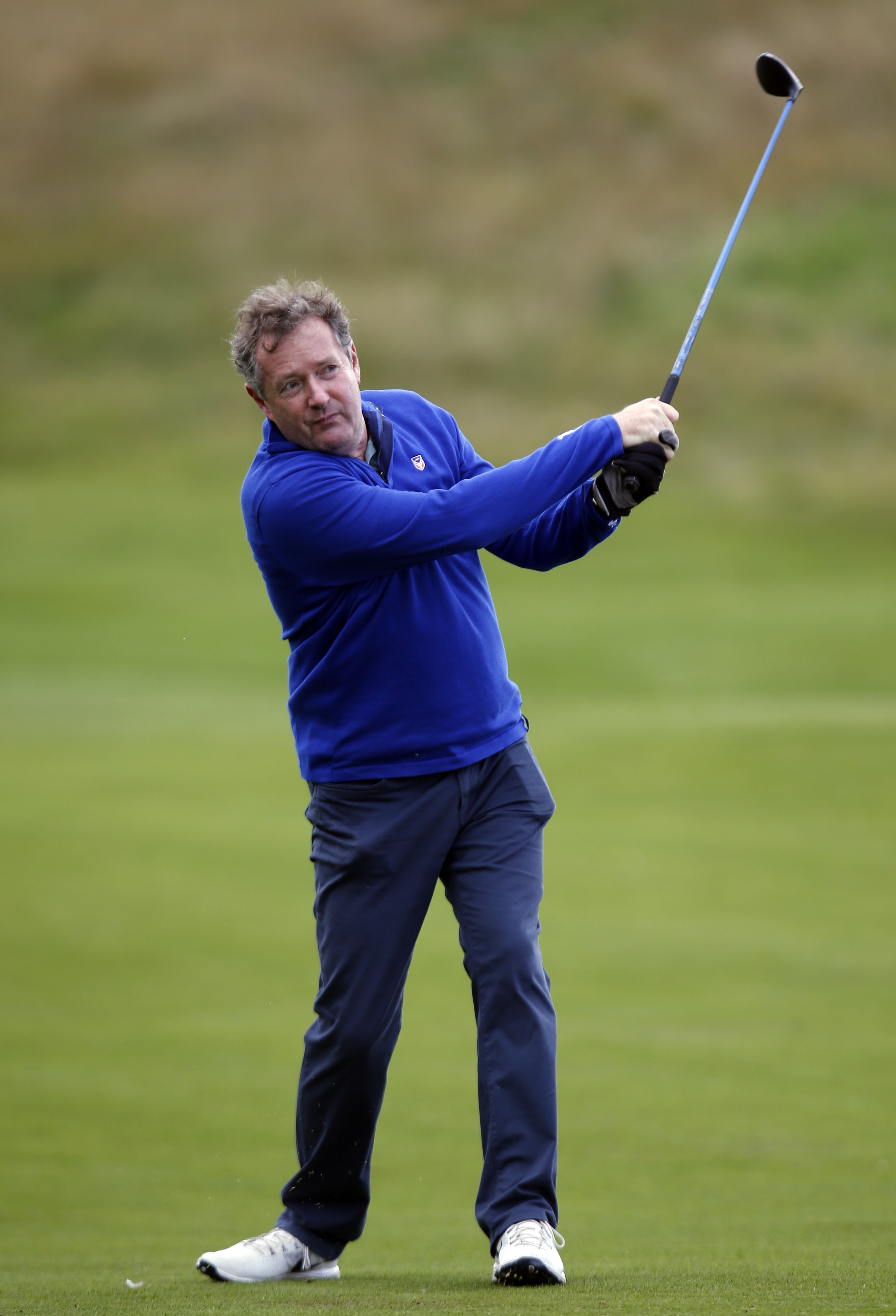 Britain Golf - British Masters - The Grove, Hertfordshire - 12/10/16 Piers Morgan tees off at the 12th hole during the Pro-Am Action Images via Reuters / Paul Childs Livepic EDITORIAL USE ONLY.