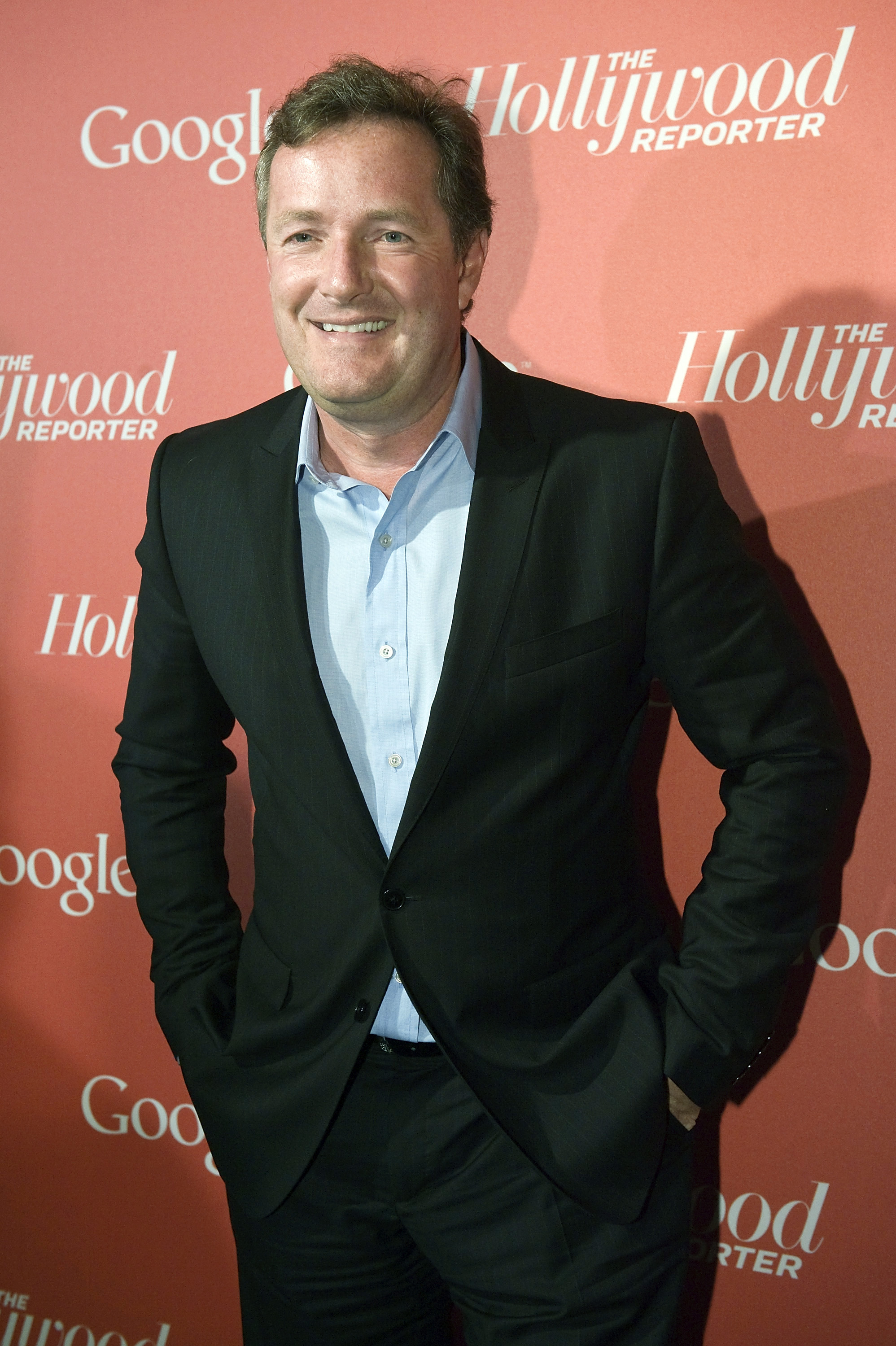 Piers Morgan of CNN arrives for a party thrown by Google and the Hollywood Reporter, on the eve of the annual White House Correspondents' Association Dinner, at the W Hotel in Washington, April 27, 2012.  REUTERS/Jonathan Ernst  (UNITED STATES - Tags: ENTERTAINMENT MEDIA POLITICS)