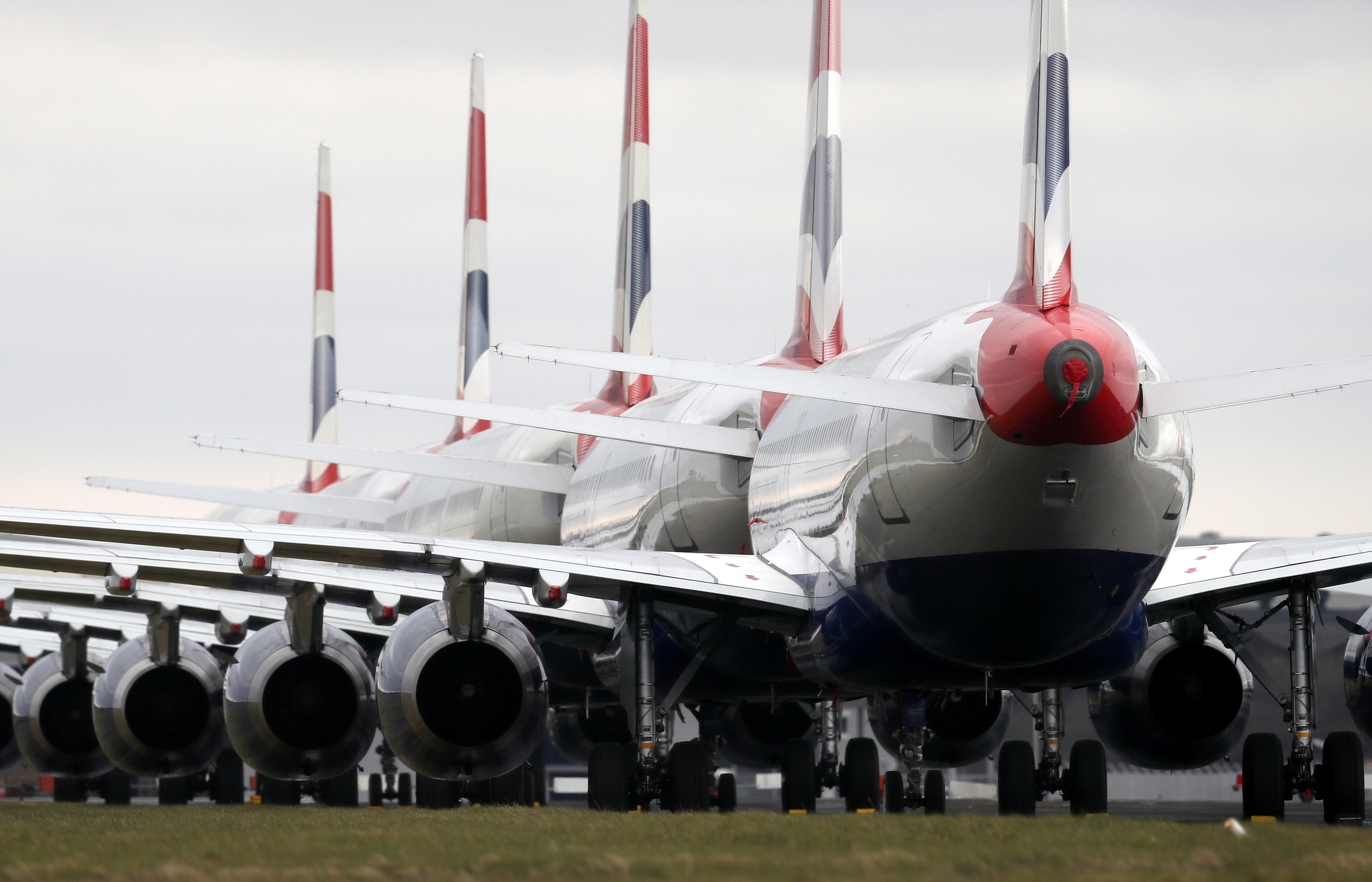 British Airways planes parked on the tarmac at Glasgow Airport after Prime Minister Boris Johnson has put the UK in lockdown to help curb the spread of the coronavirus.